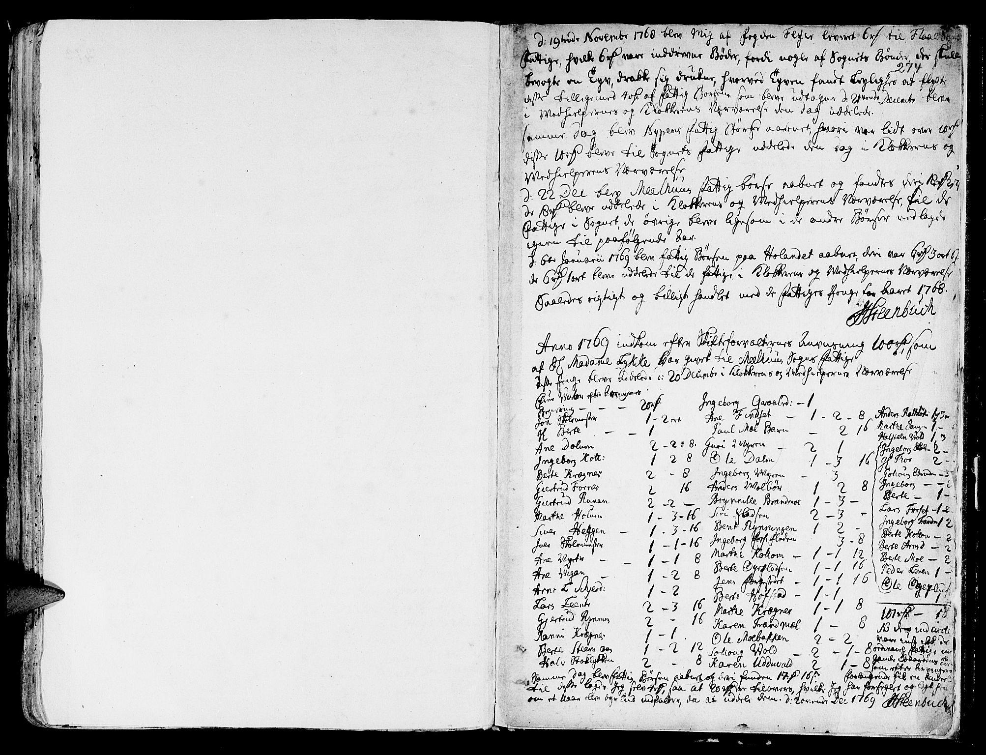 SAT, Ministerialprotokoller, klokkerbøker og fødselsregistre - Sør-Trøndelag, 691/L1061: Ministerialbok nr. 691A02 /1, 1768-1815, s. 274