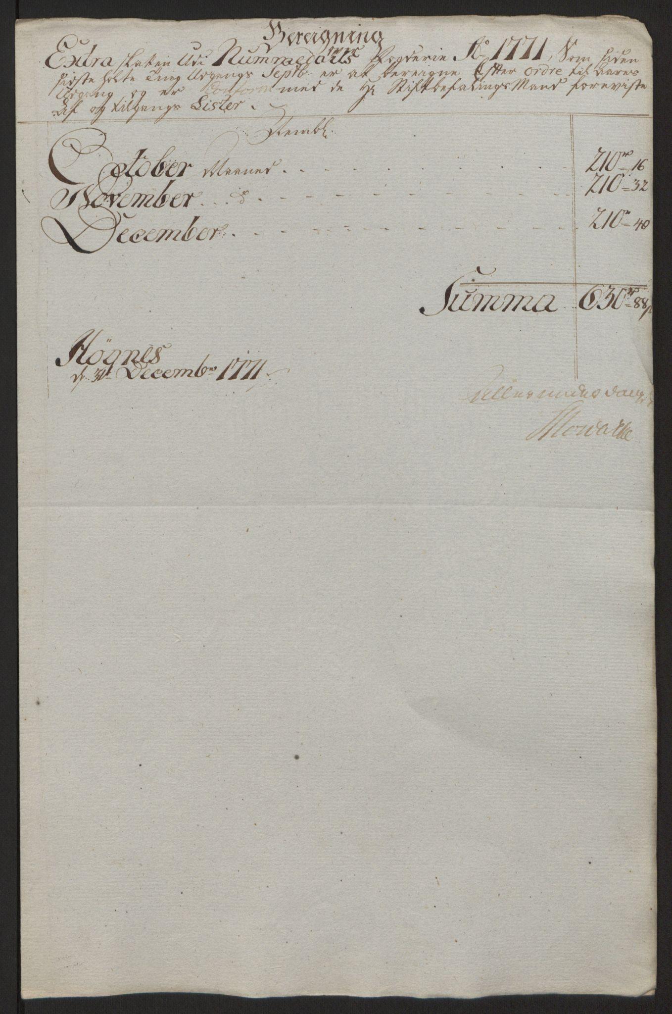 RA, Rentekammeret inntil 1814, Reviderte regnskaper, Fogderegnskap, R64/L4502: Ekstraskatten Namdal, 1762-1772, s. 420