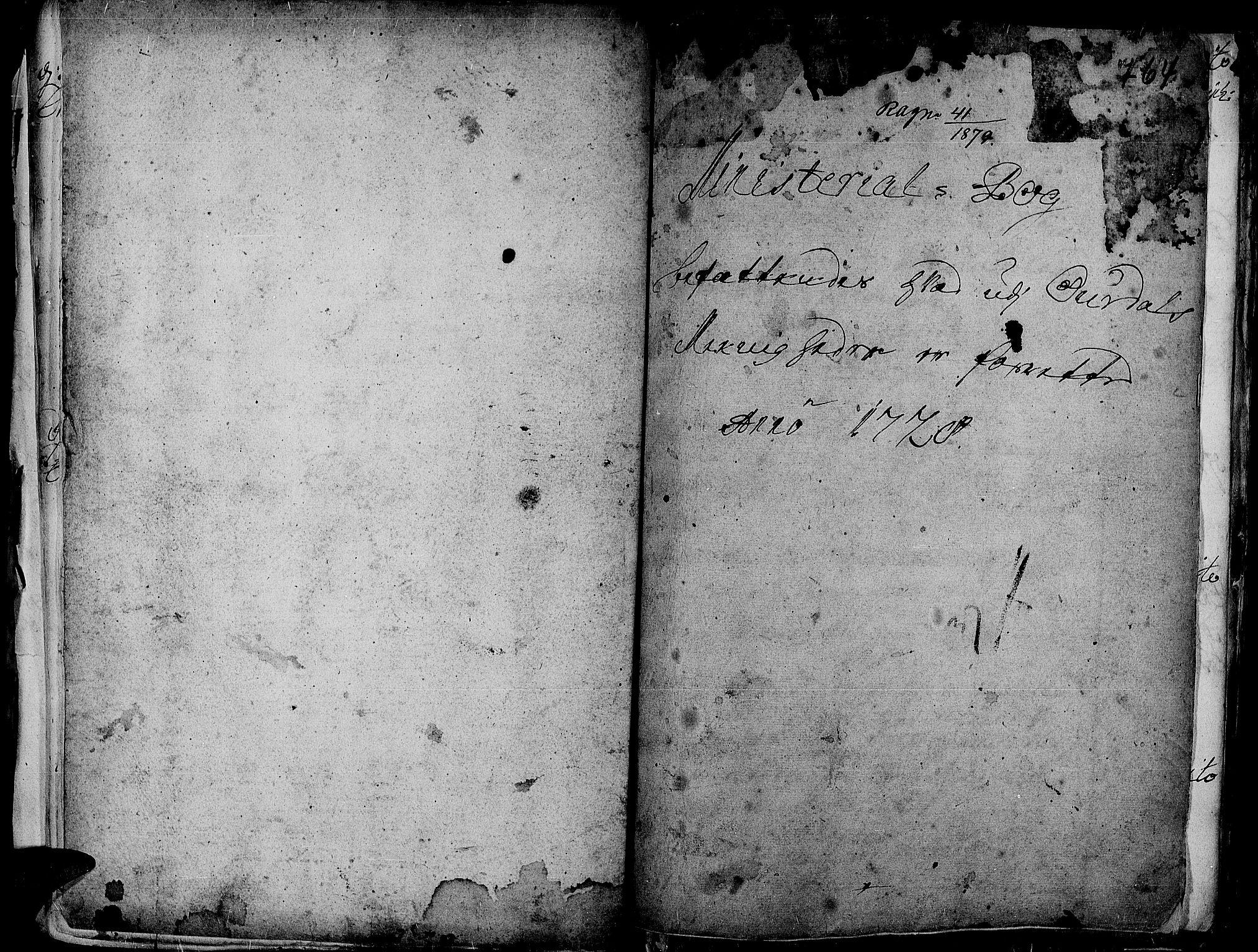 SAH, Aurdal prestekontor, Ministerialbok nr. 1-3, 1692-1730, s. 764