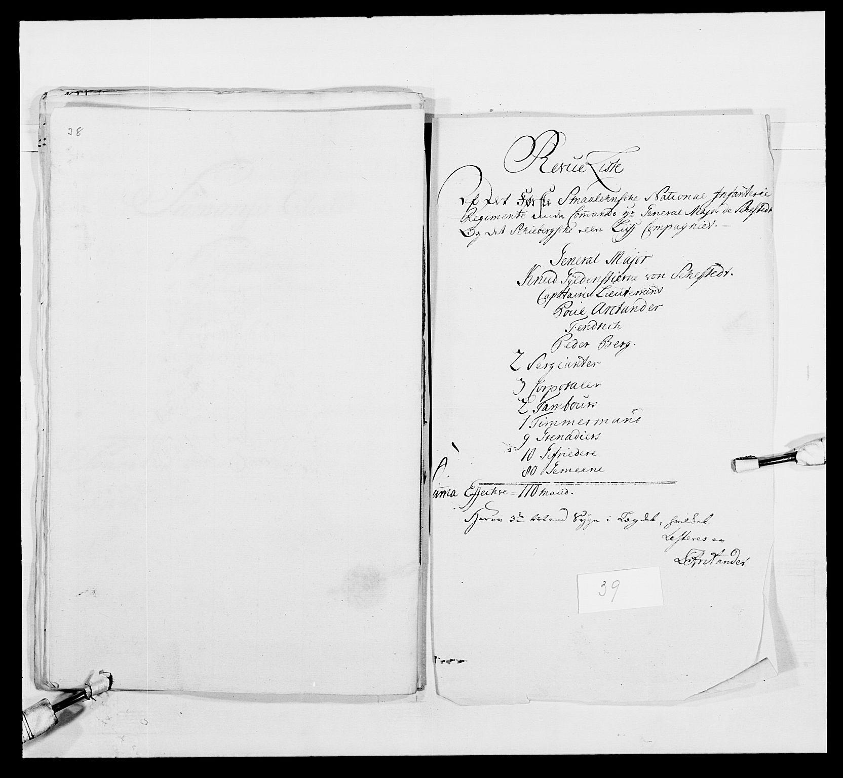 RA, Kommanderende general (KG I) med Det norske krigsdirektorium, E/Ea/L0495: 1. Smålenske regiment, 1732-1763, s. 539