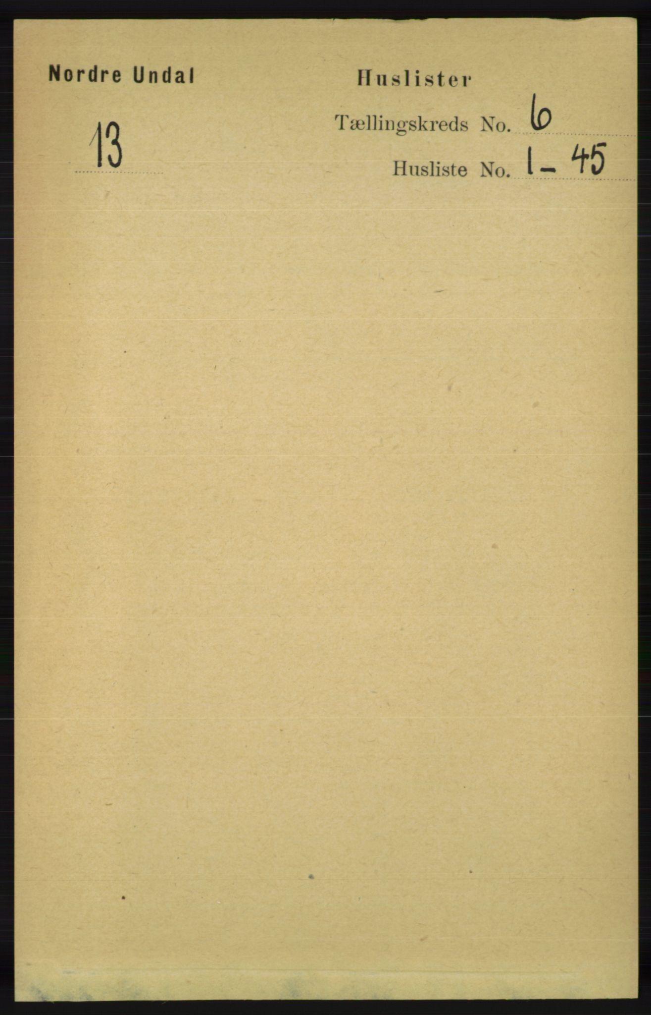 RA, Folketelling 1891 for 1028 Nord-Audnedal herred, 1891, s. 1457