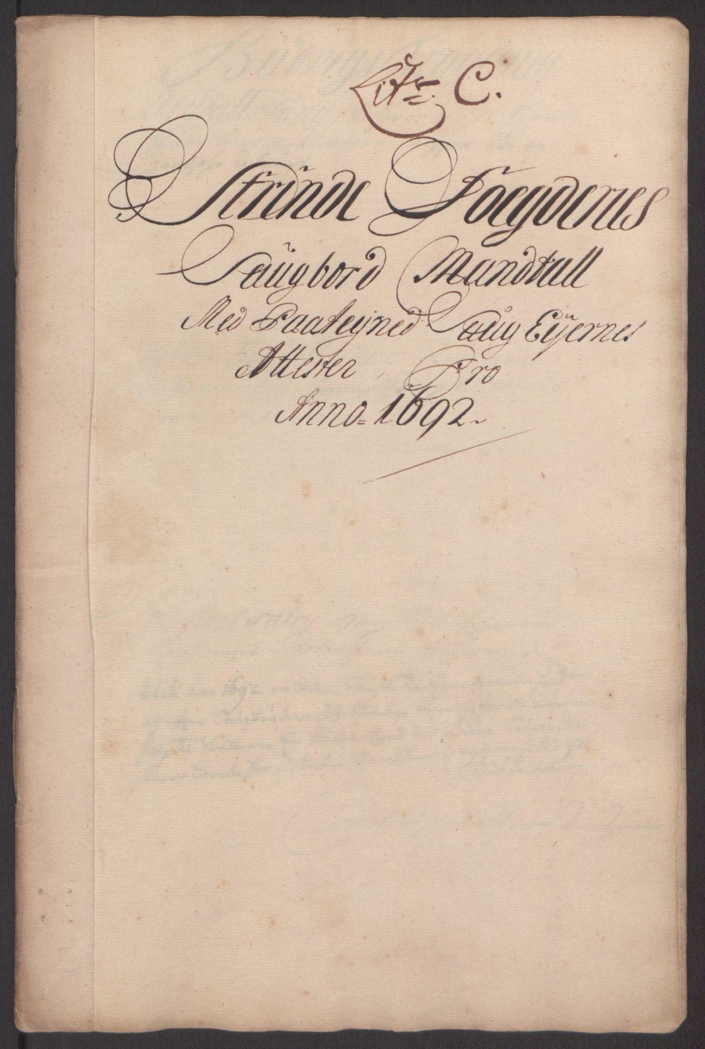 RA, Rentekammeret inntil 1814, Reviderte regnskaper, Fogderegnskap, R61/L4103: Fogderegnskap Strinda og Selbu, 1691-1692, s. 278