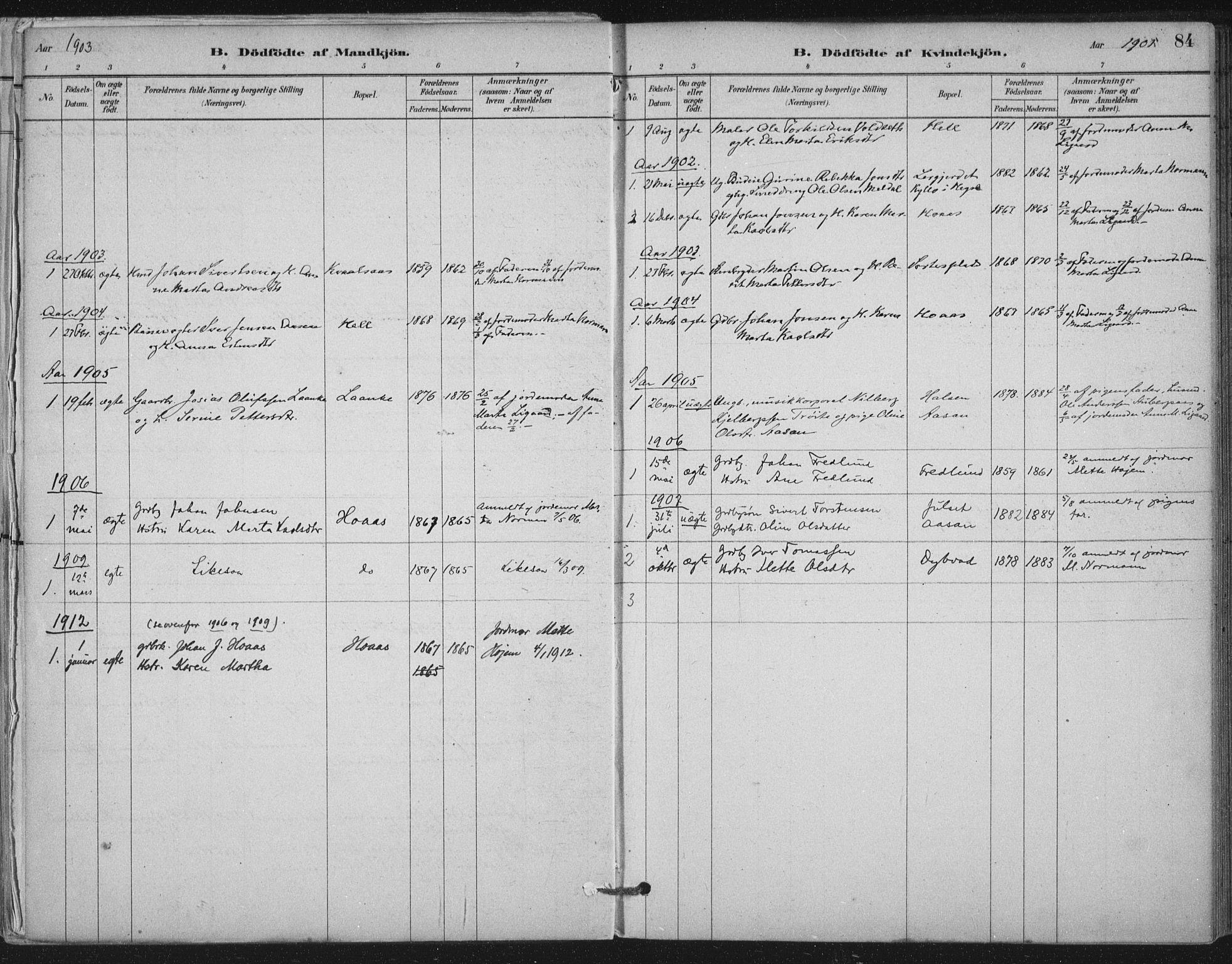SAT, Ministerialprotokoller, klokkerbøker og fødselsregistre - Nord-Trøndelag, 710/L0095: Ministerialbok nr. 710A01, 1880-1914, s. 84