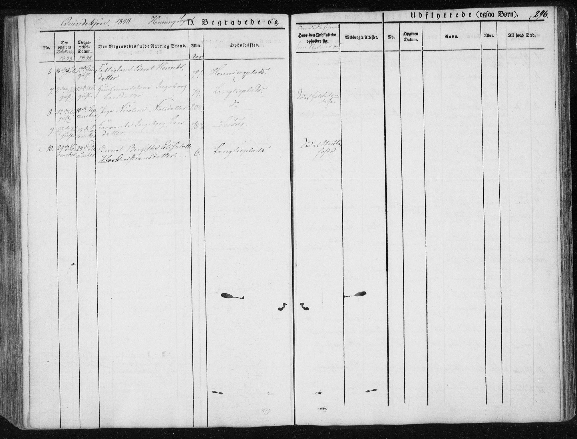 SAT, Ministerialprotokoller, klokkerbøker og fødselsregistre - Nord-Trøndelag, 735/L0339: Ministerialbok nr. 735A06 /3, 1836-1848, s. 296