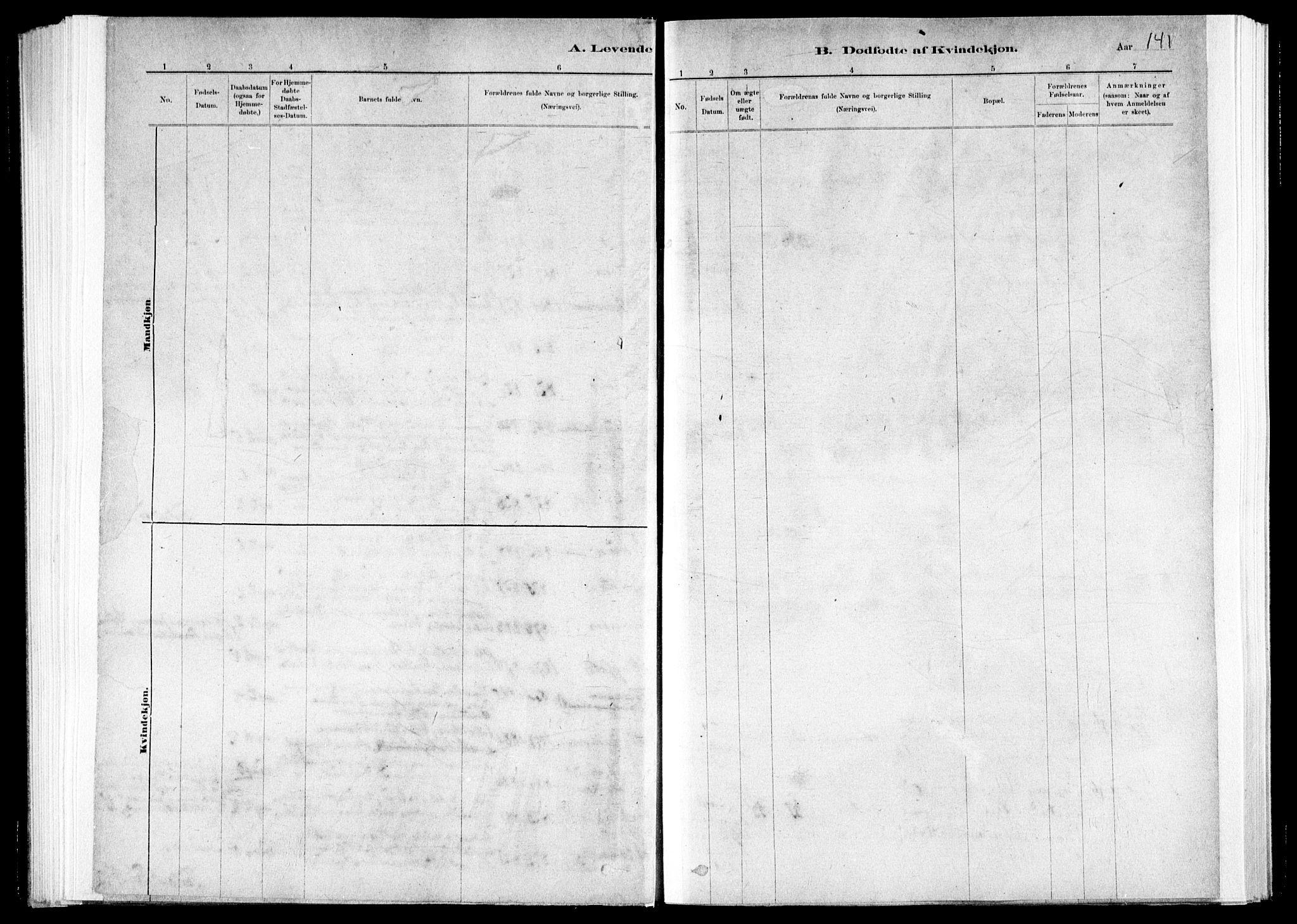 SAT, Ministerialprotokoller, klokkerbøker og fødselsregistre - Nord-Trøndelag, 730/L0285: Ministerialbok nr. 730A10, 1879-1914, s. 141