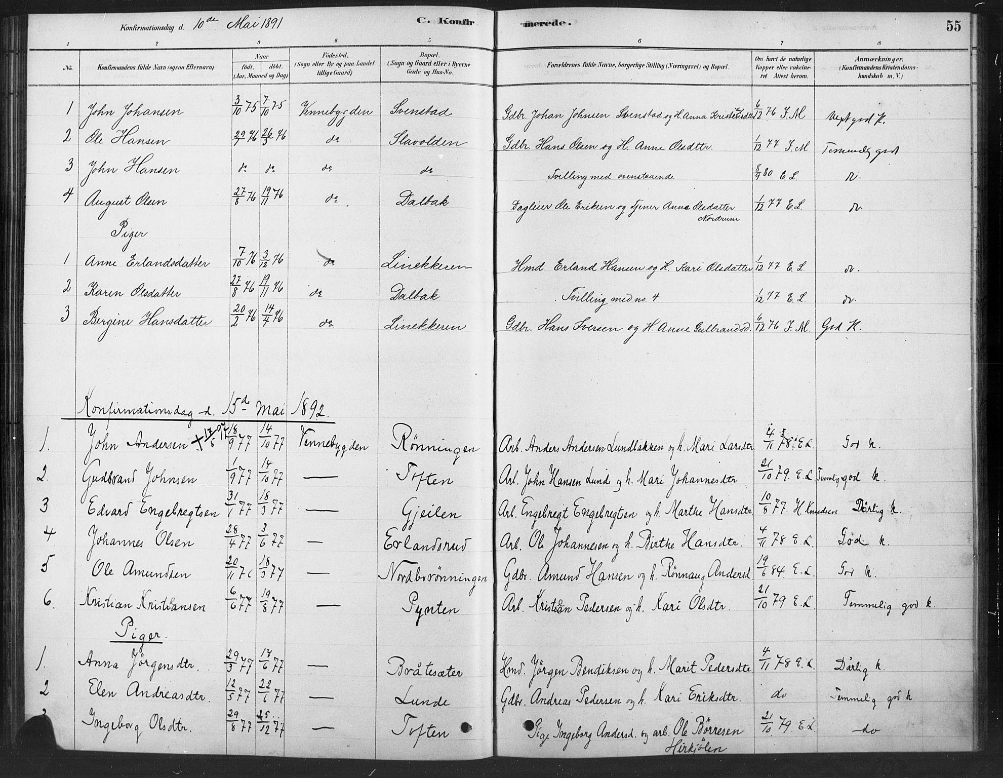 SAH, Ringebu prestekontor, Ministerialbok nr. 10, 1878-1898, s. 55