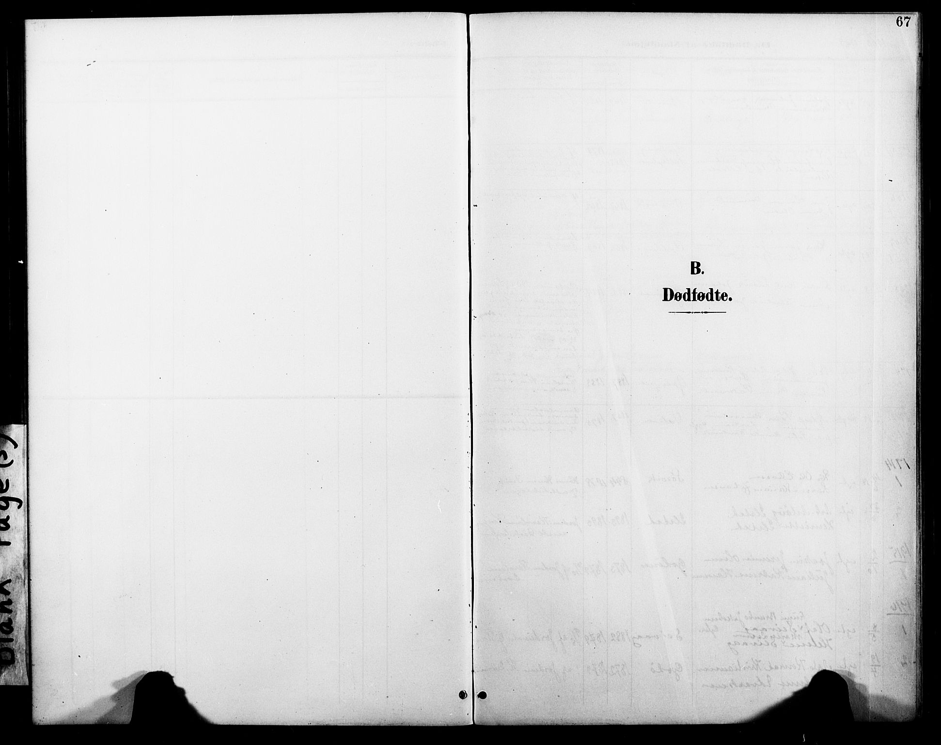 SAT, Ministerialprotokoller, klokkerbøker og fødselsregistre - Nordland, 804/L0088: Klokkerbok nr. 804C01, 1901-1917, s. 67