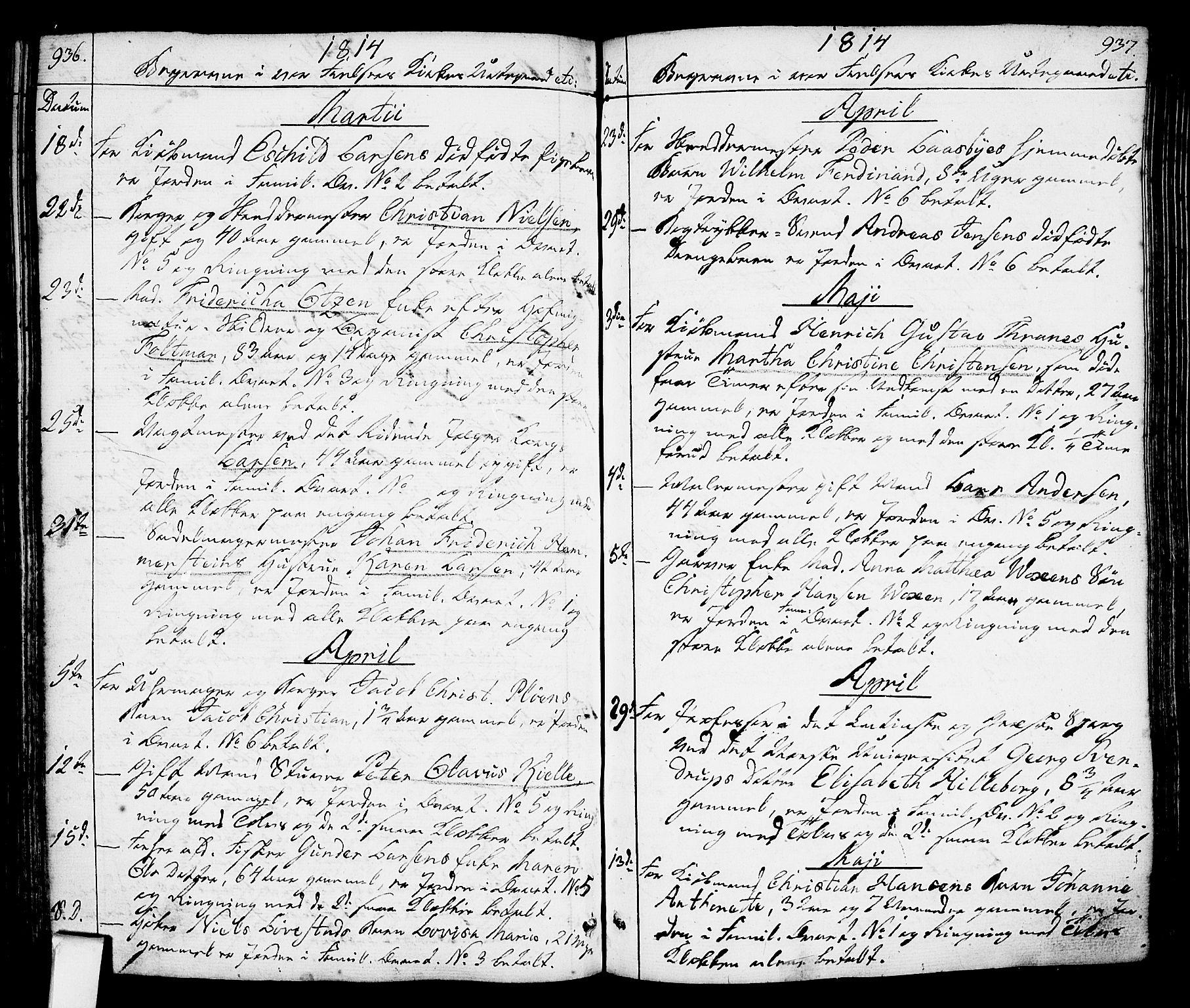 SAO, Oslo domkirke Kirkebøker, F/Fa/L0006: Ministerialbok nr. 6, 1807-1817, s. 936-937