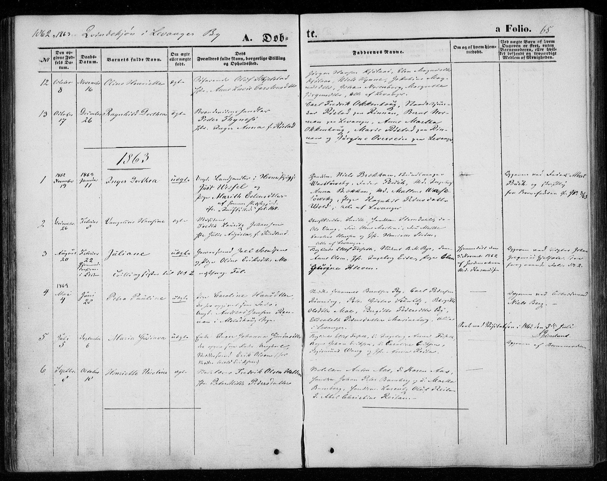SAT, Ministerialprotokoller, klokkerbøker og fødselsregistre - Nord-Trøndelag, 720/L0184: Ministerialbok nr. 720A02 /1, 1855-1863, s. 65