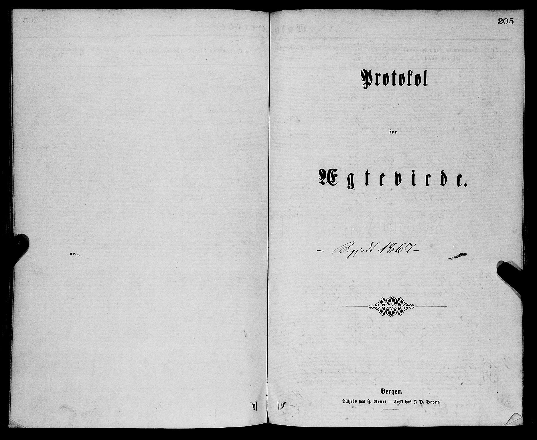 SAB, Sandviken Sokneprestembete, H/Ha/L0001: Ministerialbok nr. A 1, 1867-1877, s. 205