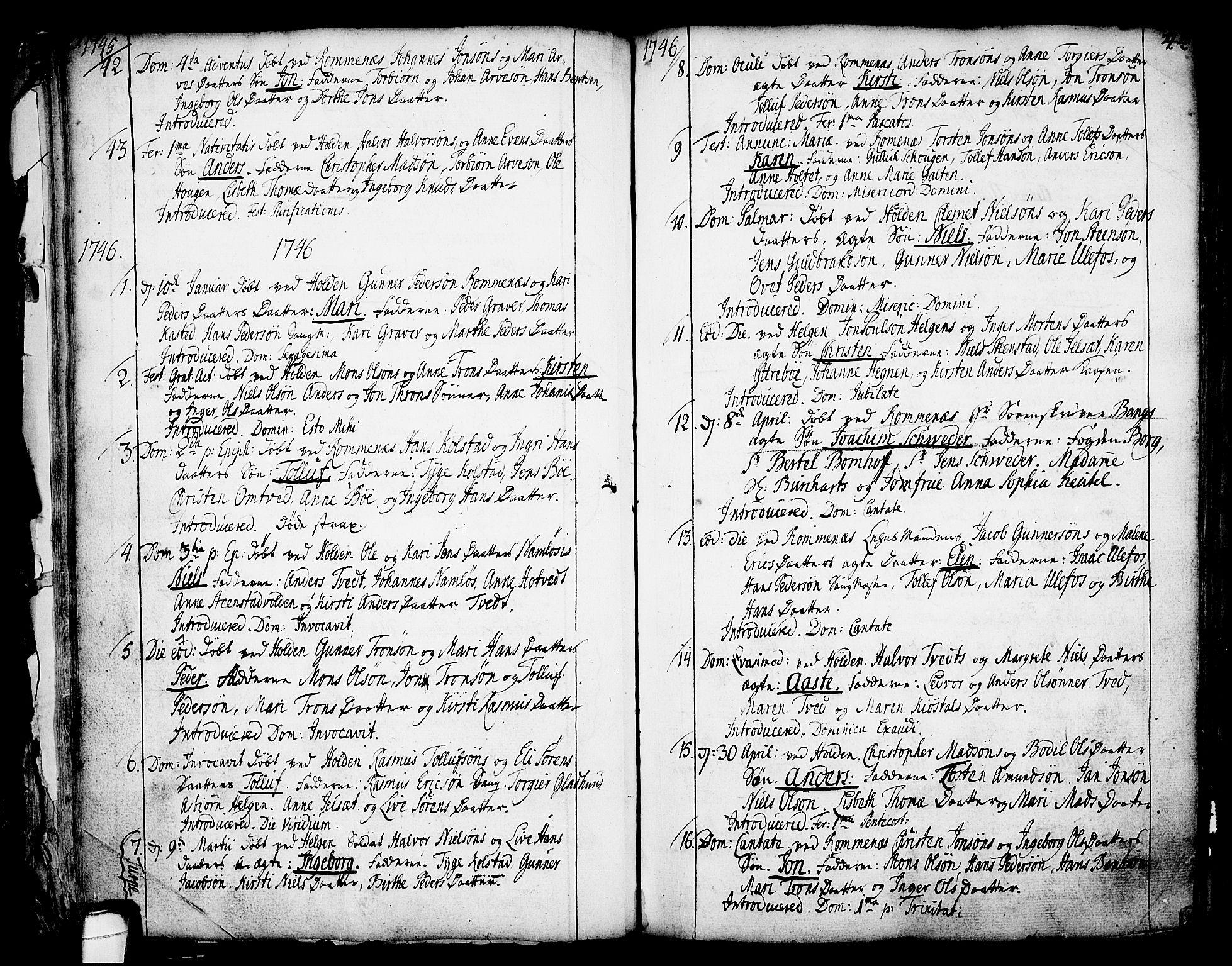 SAKO, Holla kirkebøker, F/Fa/L0001: Ministerialbok nr. 1, 1717-1779, s. 44