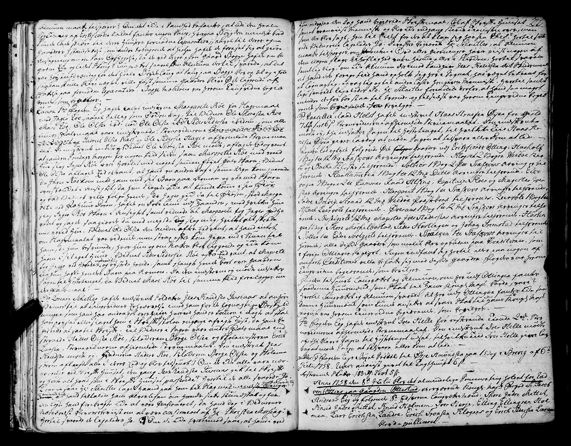 SAT, Romsdal sorenskriveri, 1/1A/L0014: Tingbok, 1757-1765, s. 27