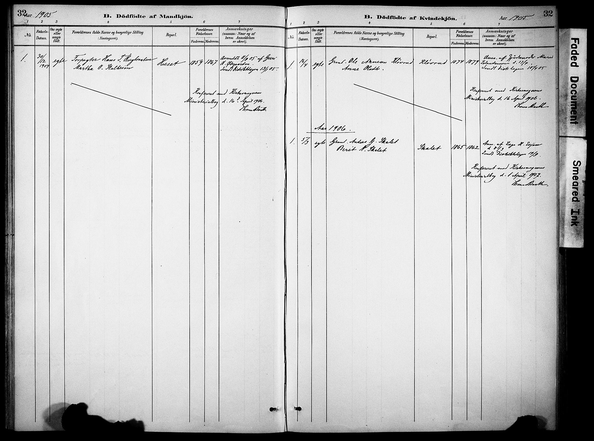 SAH, Sør-Aurdal prestekontor, Ministerialbok nr. 10, 1886-1906, s. 32
