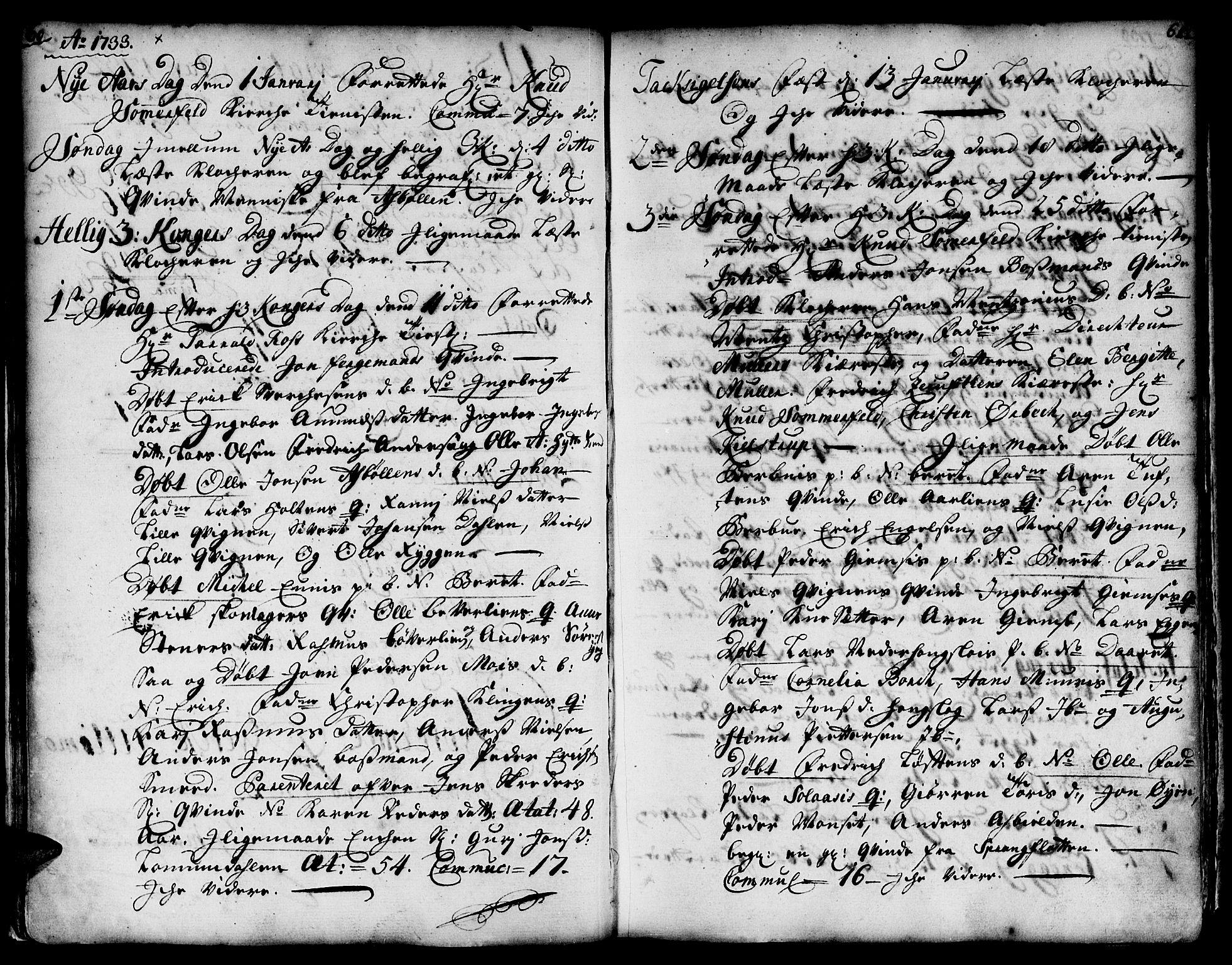 SAT, Ministerialprotokoller, klokkerbøker og fødselsregistre - Sør-Trøndelag, 671/L0839: Ministerialbok nr. 671A01, 1730-1755, s. 60-61