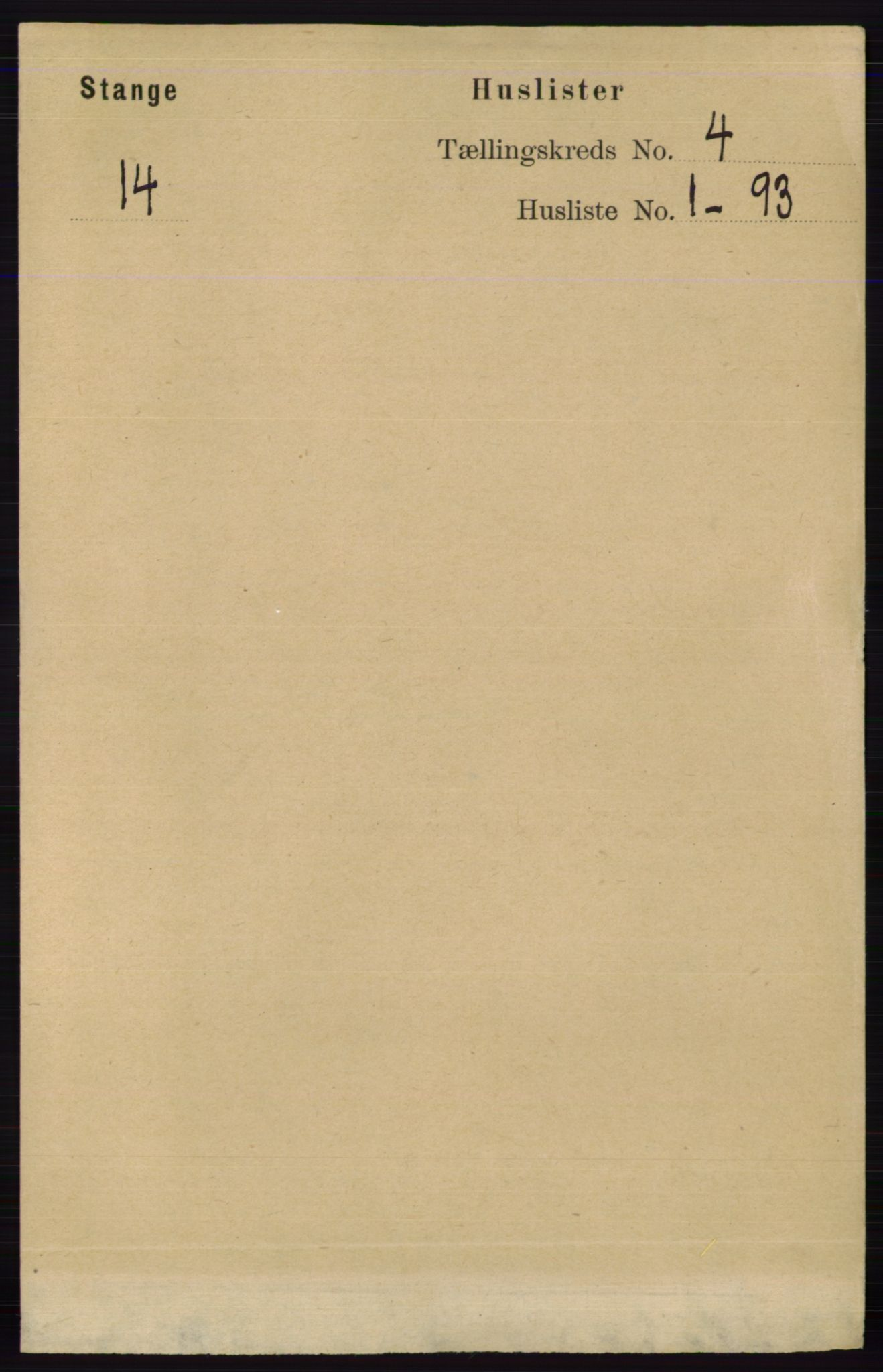 RA, Folketelling 1891 for 0417 Stange herred, 1891, s. 2228