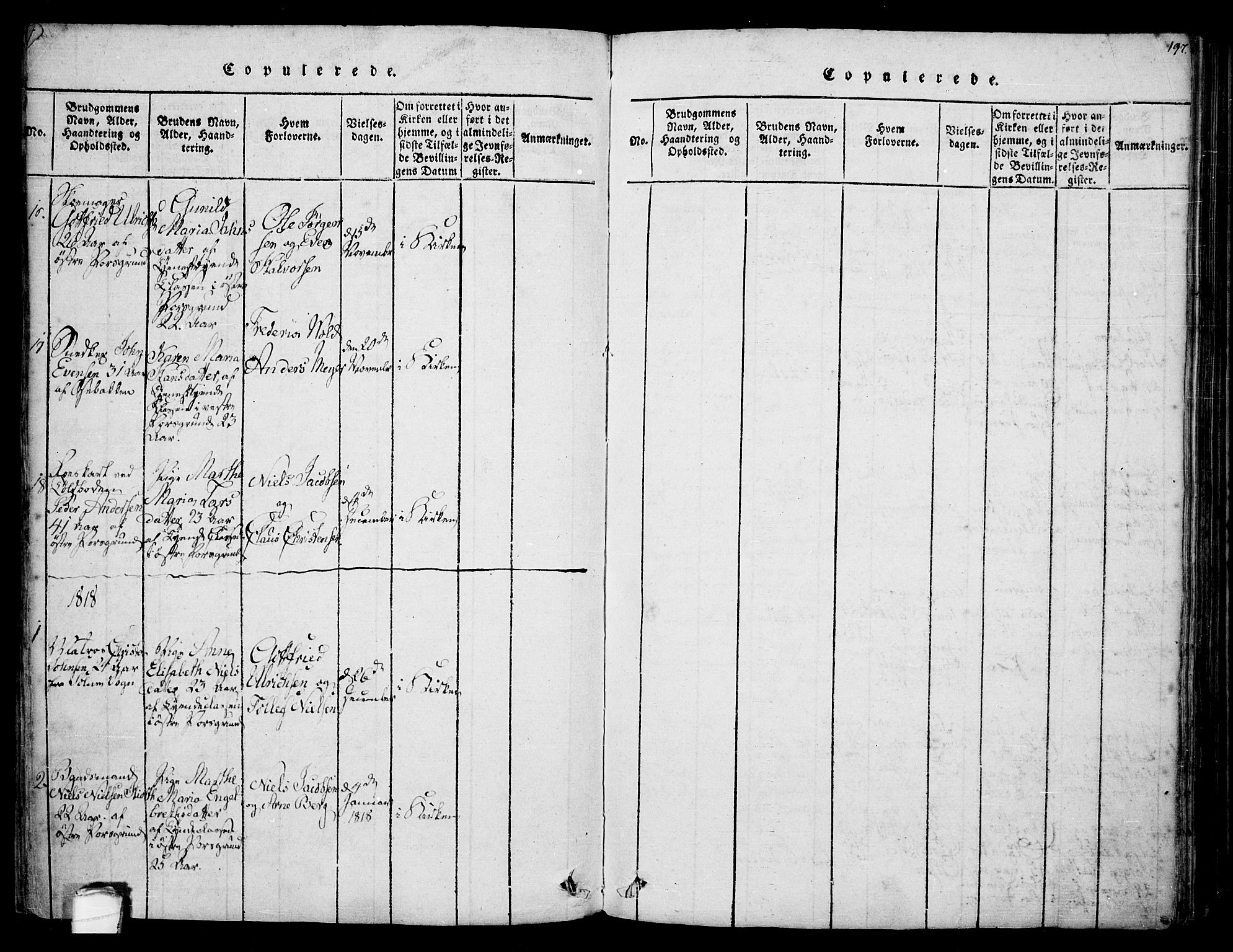 SAKO, Porsgrunn kirkebøker , F/Fa/L0004: Ministerialbok nr. 4, 1814-1828, s. 197