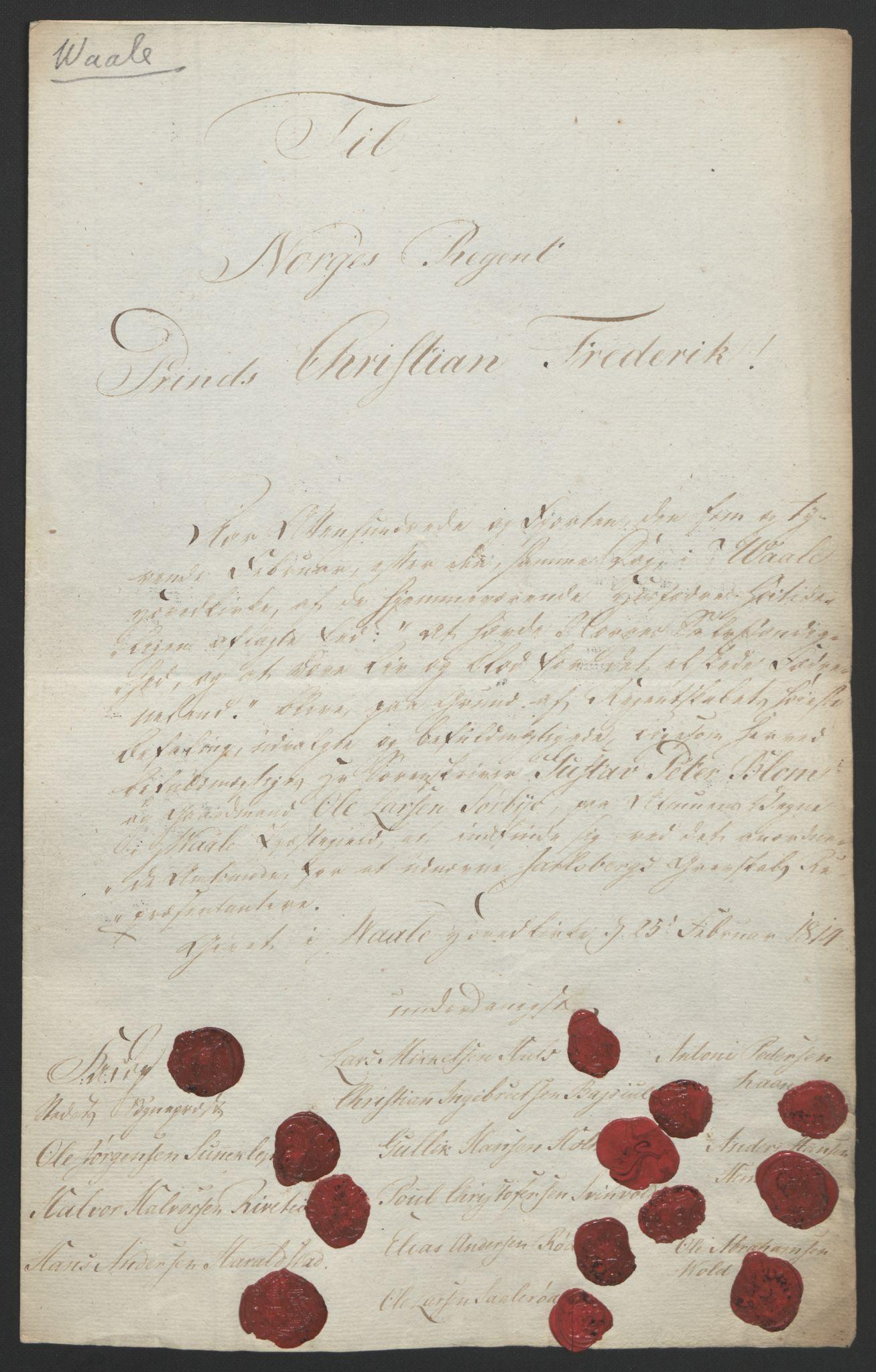 RA, Statsrådssekretariatet, D/Db/L0008: Fullmakter for Eidsvollsrepresentantene i 1814. , 1814, s. 26