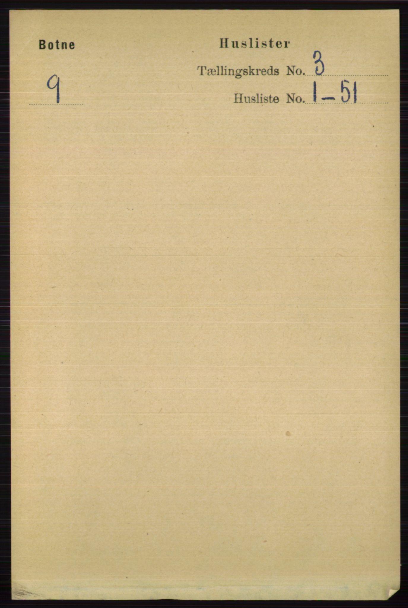 RA, Folketelling 1891 for 0715 Botne herred, 1891, s. 1164