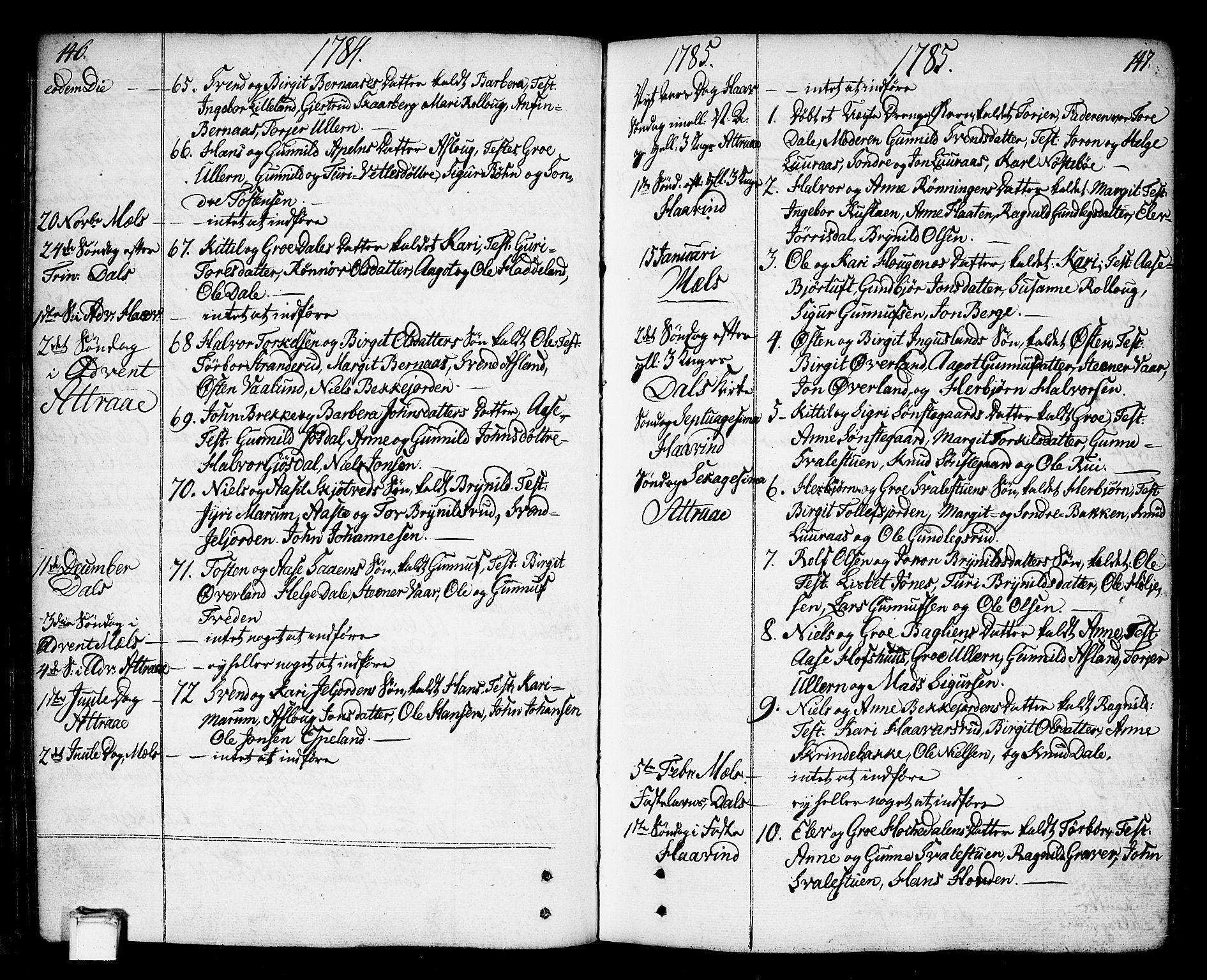 SAKO, Tinn kirkebøker, F/Fa/L0002: Ministerialbok nr. I 2, 1757-1810, s. 146-147