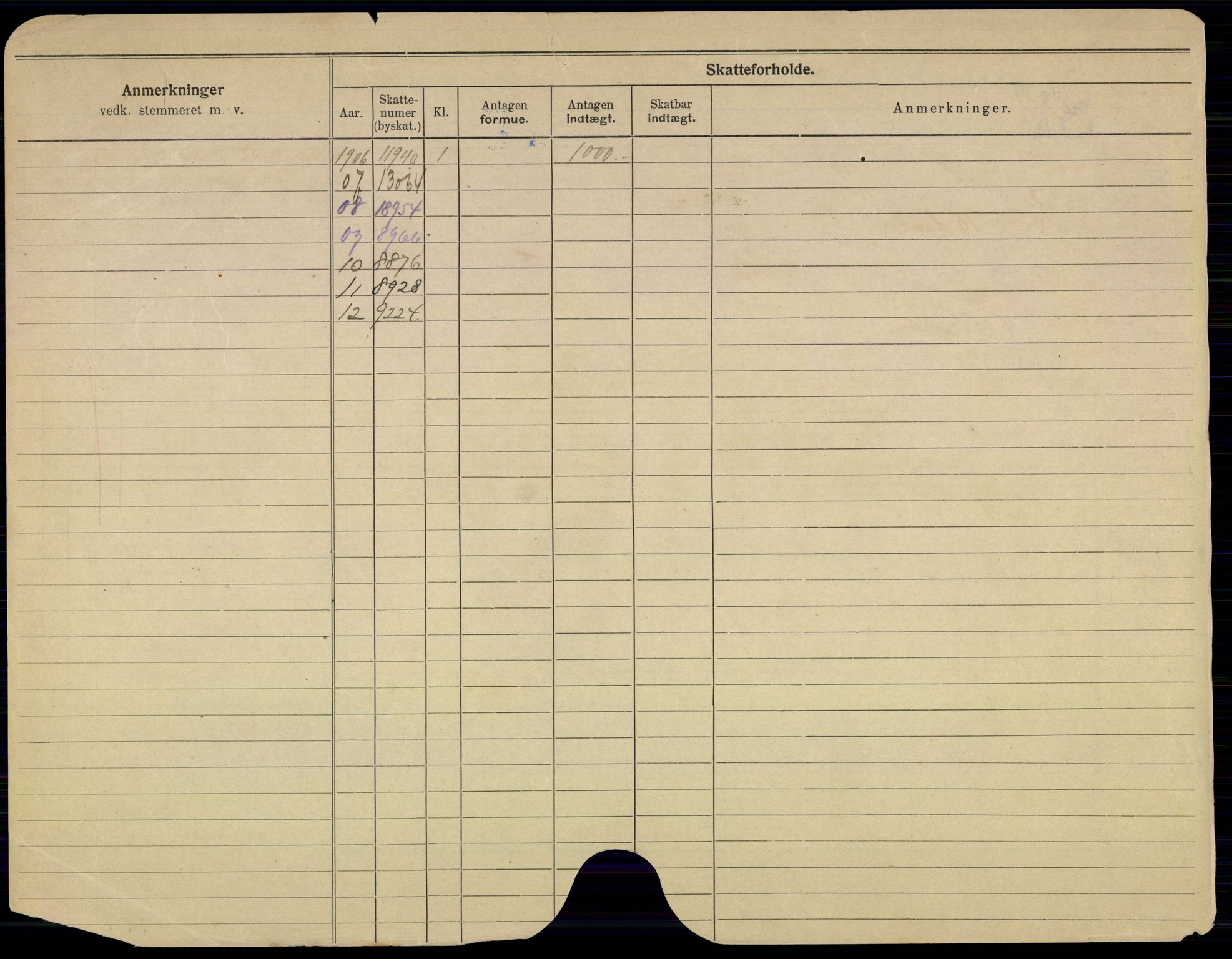 SAO, Oslo folkeregister, Registerkort, G/Gb/L0013: Menn, 1912