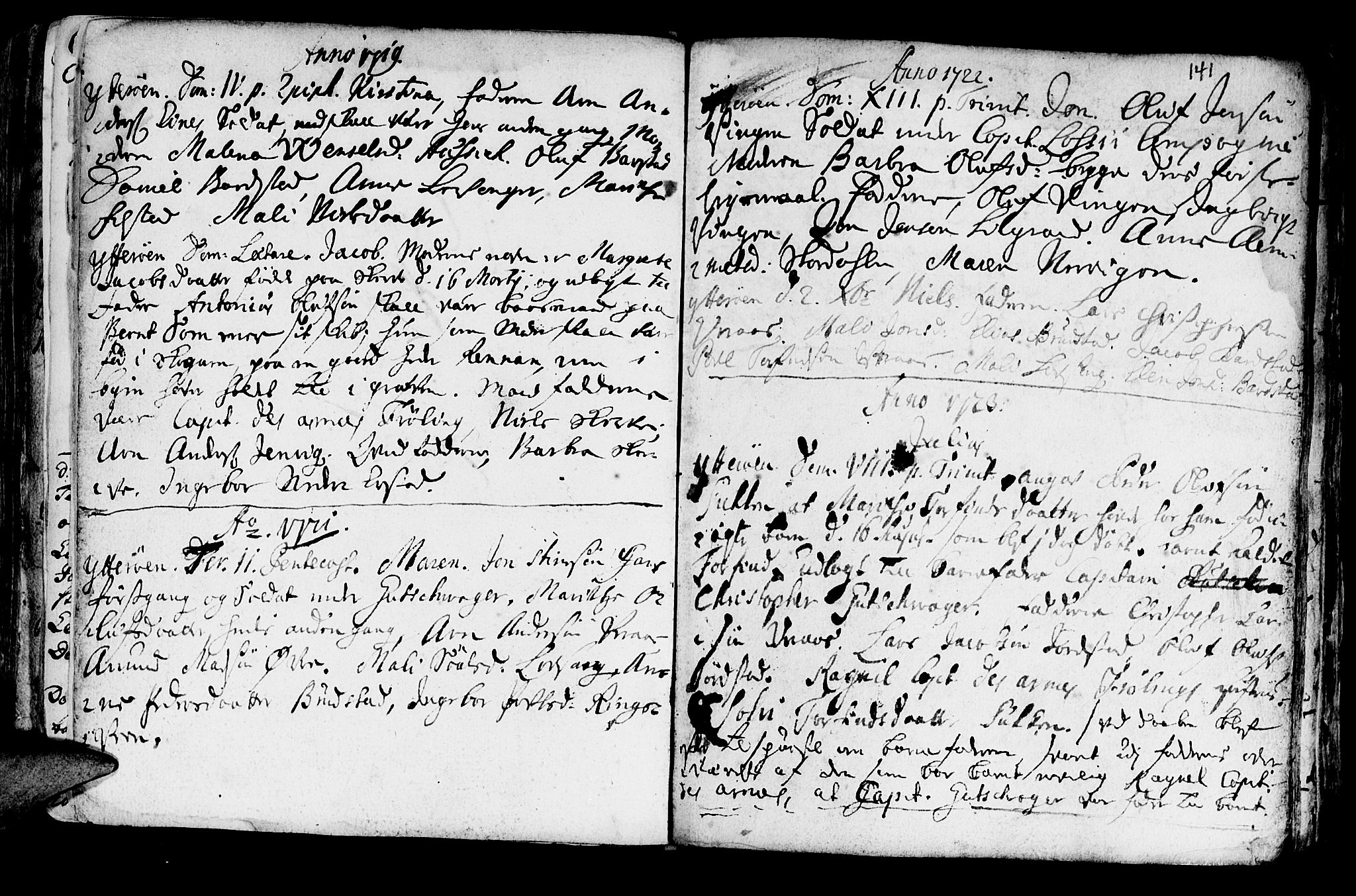 SAT, Ministerialprotokoller, klokkerbøker og fødselsregistre - Nord-Trøndelag, 722/L0215: Ministerialbok nr. 722A02, 1718-1755, s. 141