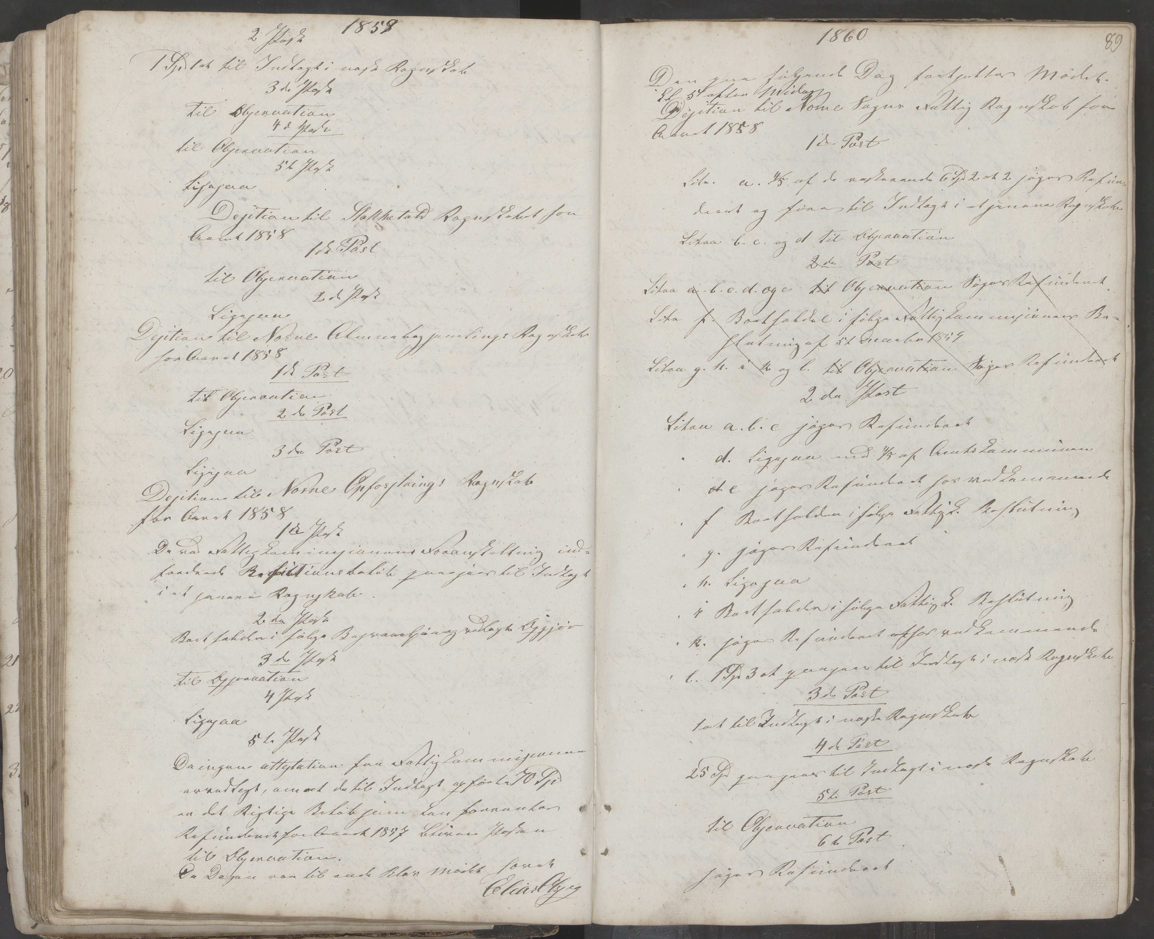 AIN, Nesna kommune. Formannskapet, 100/L0001: Møtebok, 1838-1873, s. 89