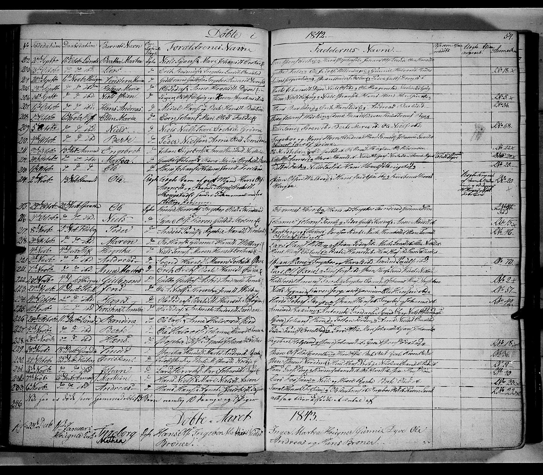 SAH, Land prestekontor, Klokkerbok nr. 2, 1833-1849, s. 54