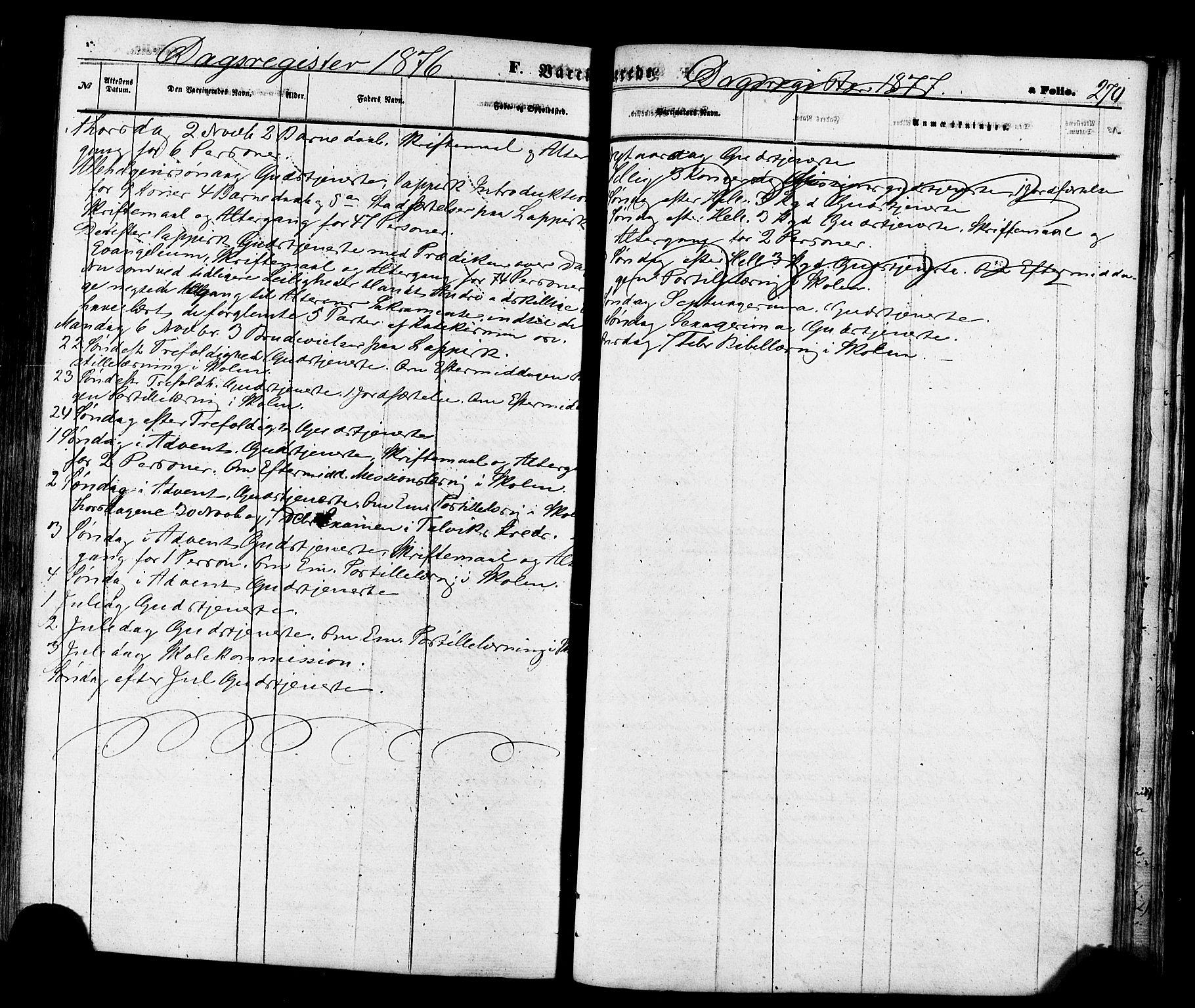 SATØ, Talvik sokneprestkontor, H/Ha/L0011kirke: Ministerialbok nr. 11, 1864-1877, s. 270