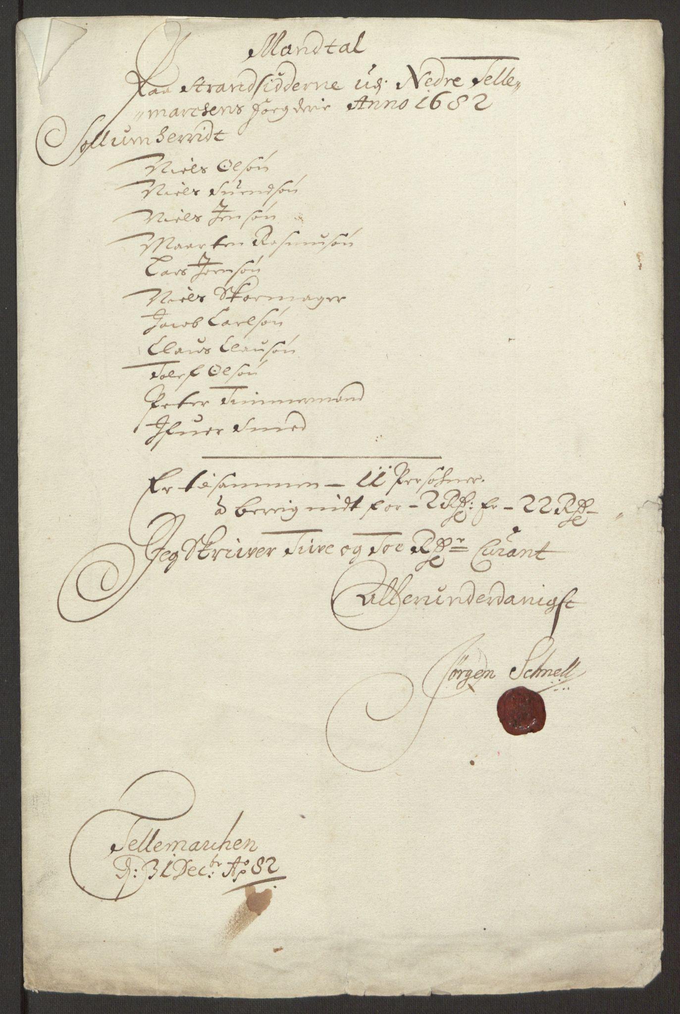 RA, Rentekammeret inntil 1814, Reviderte regnskaper, Fogderegnskap, R35/L2078: Fogderegnskap Øvre og Nedre Telemark, 1680-1684, s. 248