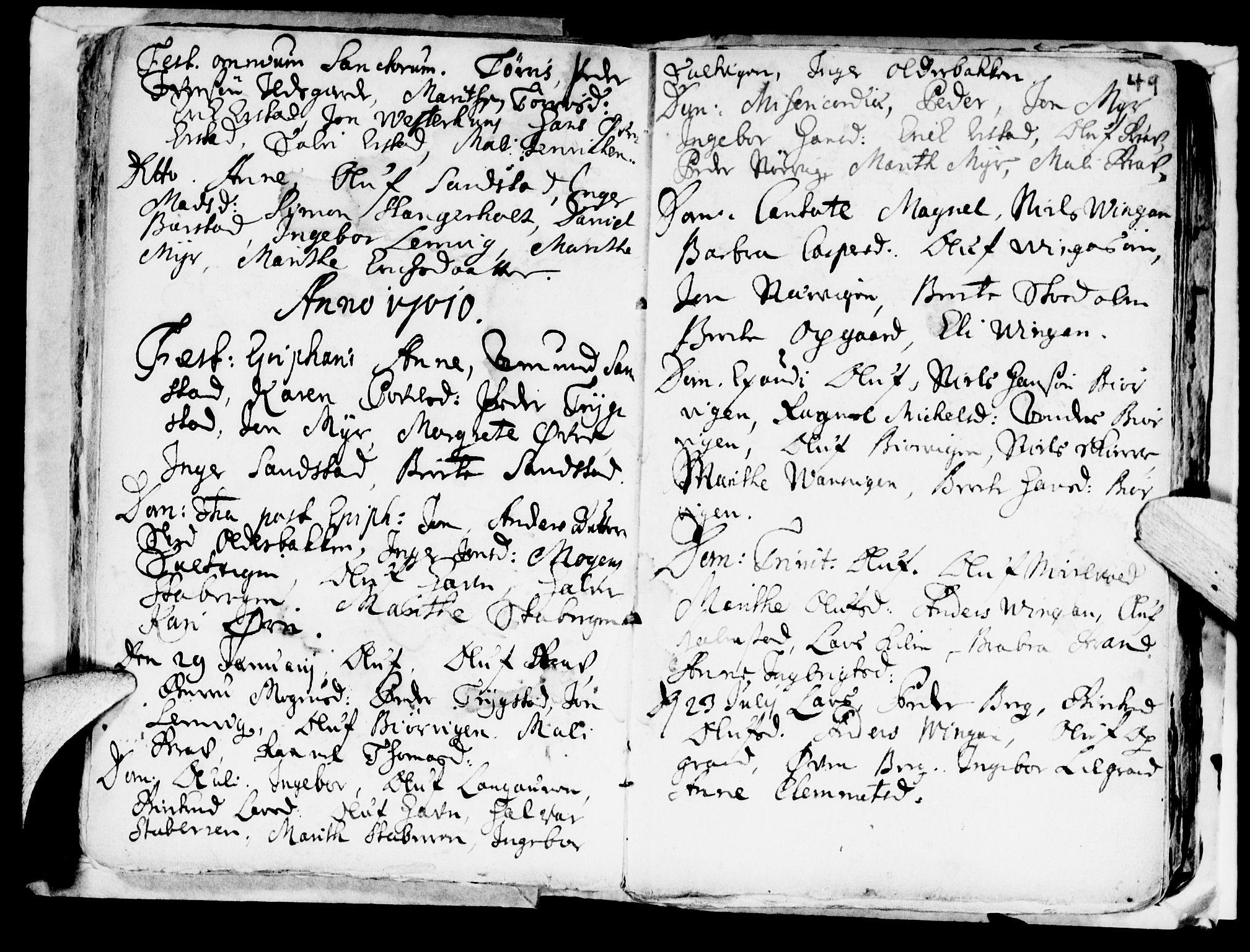 SAT, Ministerialprotokoller, klokkerbøker og fødselsregistre - Nord-Trøndelag, 722/L0214: Ministerialbok nr. 722A01, 1692-1718, s. 49