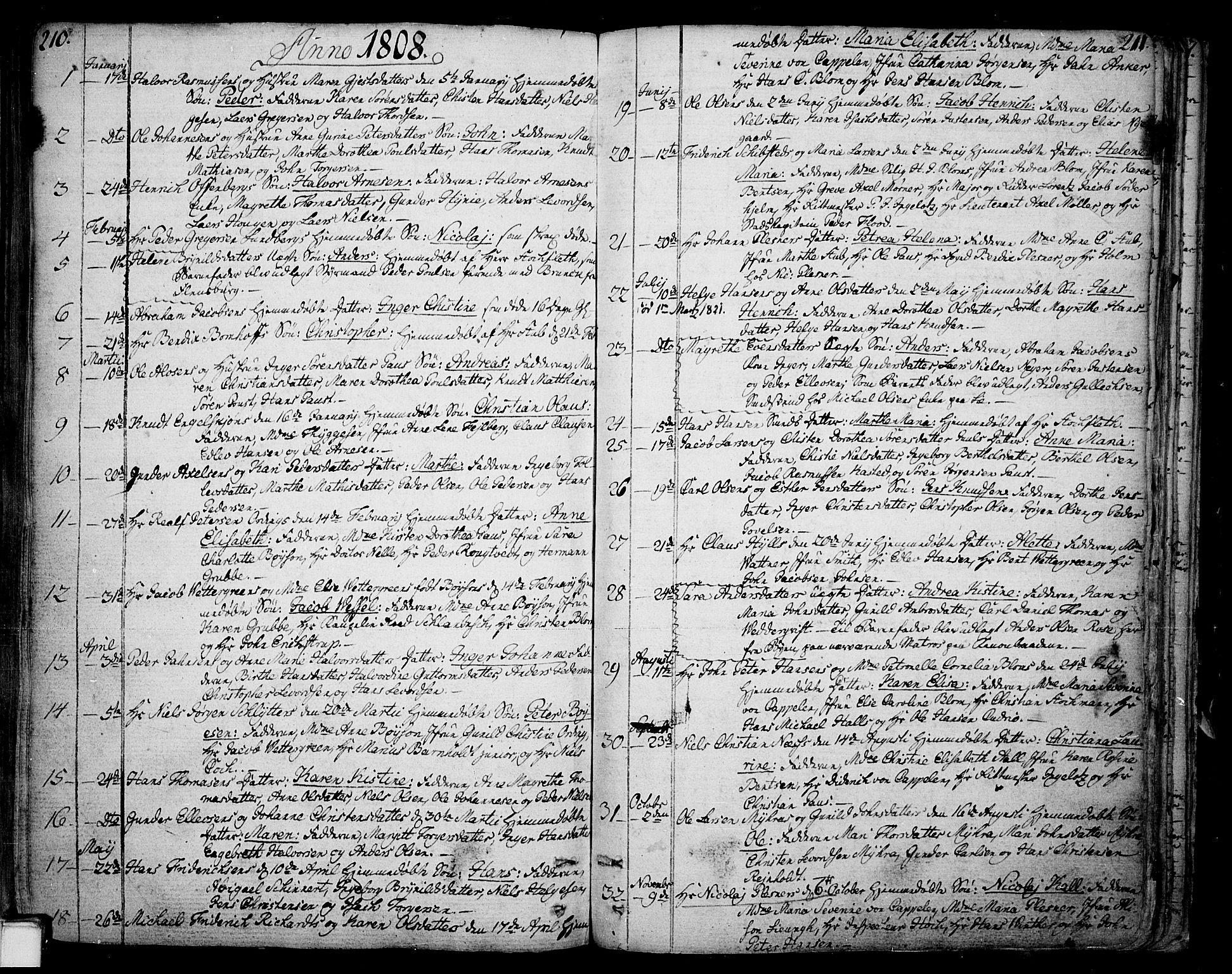 SAKO, Skien kirkebøker, F/Fa/L0004: Ministerialbok nr. 4, 1792-1814, s. 210-211