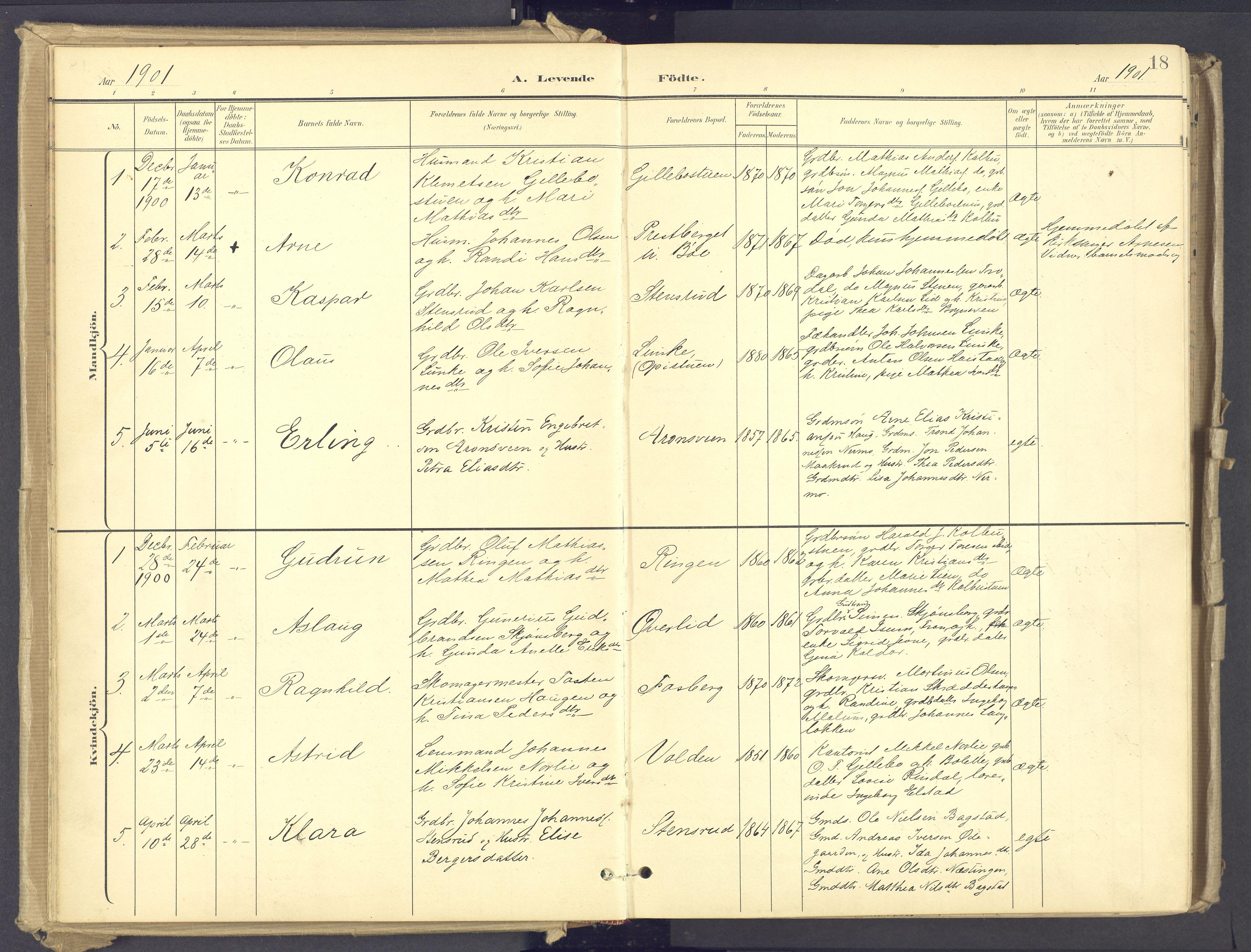 SAH, Øyer prestekontor, Ministerialbok nr. 12, 1897-1920, s. 18