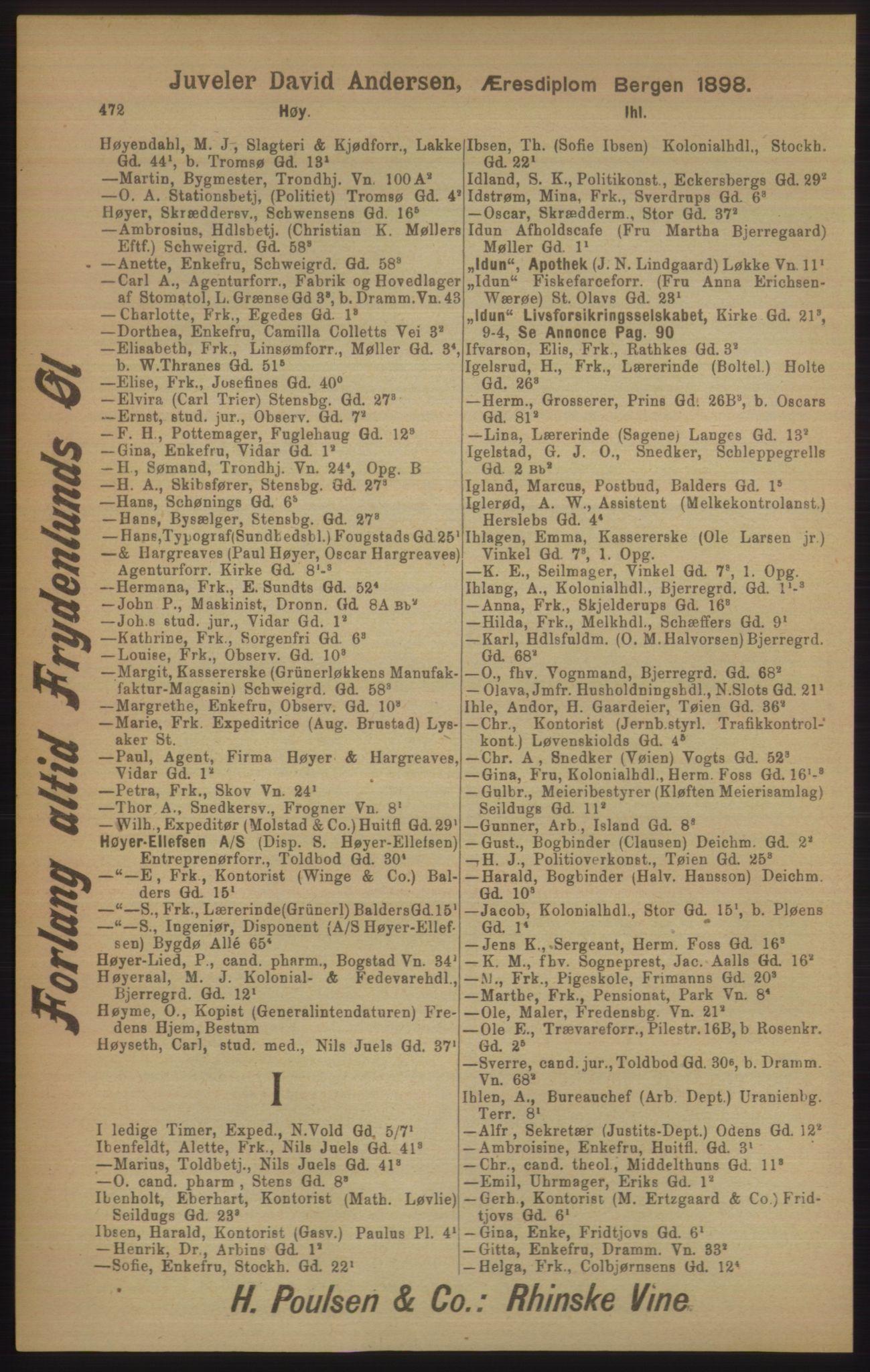 PUBL, Kristiania/Oslo adressebok, 1906, s. 472