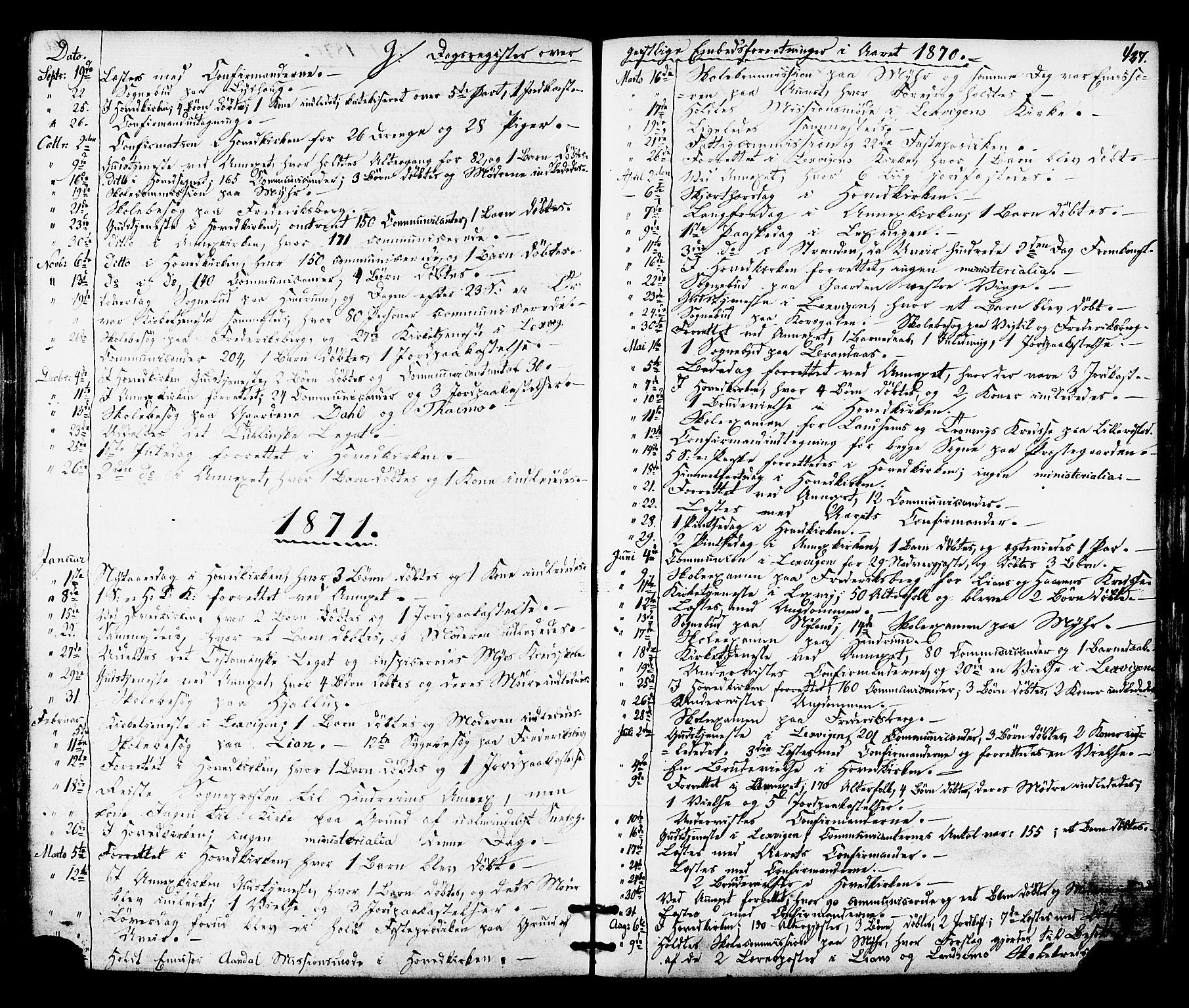 SAT, Ministerialprotokoller, klokkerbøker og fødselsregistre - Nord-Trøndelag, 701/L0009: Ministerialbok nr. 701A09 /1, 1864-1882, s. 427