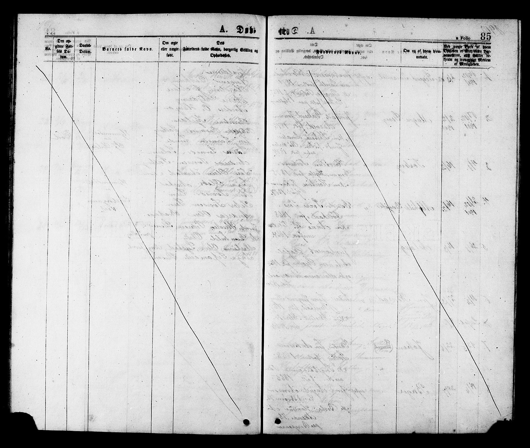 SAT, Ministerialprotokoller, klokkerbøker og fødselsregistre - Nord-Trøndelag, 731/L0311: Klokkerbok nr. 731C02, 1875-1911, s. 85