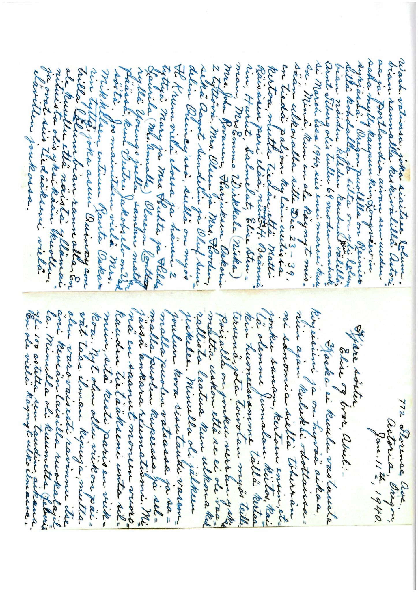 FMFB, Elise Balos brevsamling, F/Fb/L0010: Brev fra Hans J. Lilleeng til sin mor Sofie Lilleeng, 1940