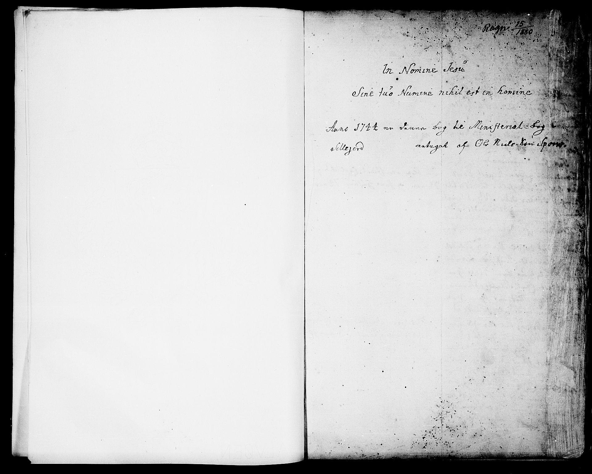 SAKO, Seljord kirkebøker, F/Fa/L0006: Ministerialbok nr. I 6, 1744-1755, s. 1