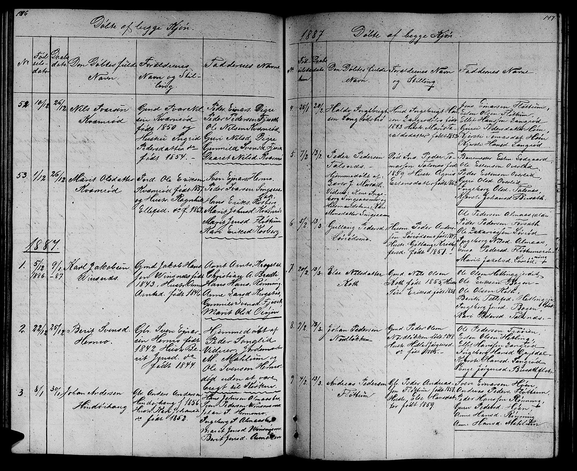 SAT, Ministerialprotokoller, klokkerbøker og fødselsregistre - Sør-Trøndelag, 688/L1027: Klokkerbok nr. 688C02, 1861-1889, s. 176-177