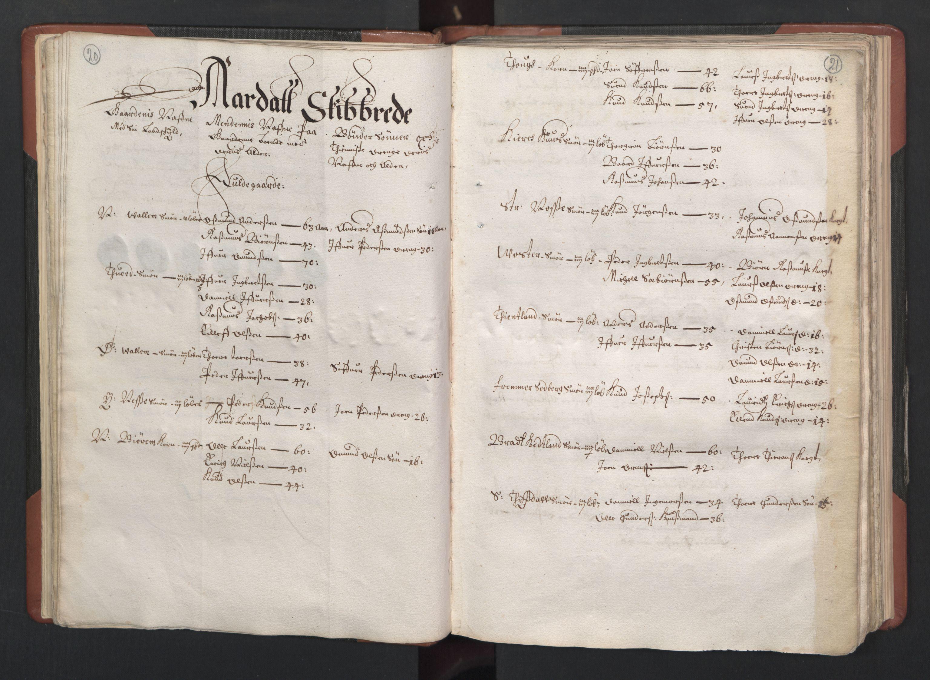 RA, Fogdenes og sorenskrivernes manntall 1664-1666, nr. 12: Ryfylke fogderi, 1664, s. 20-21