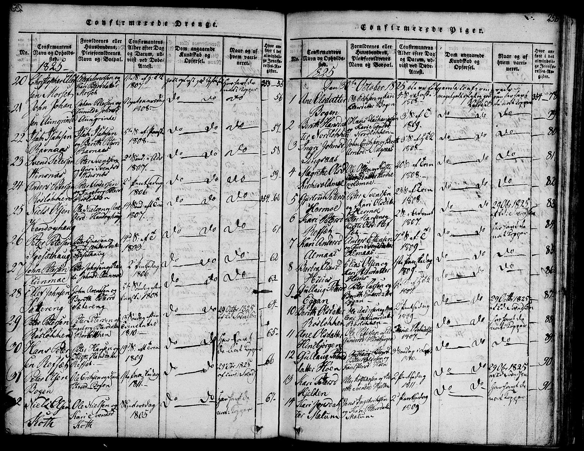 SAT, Ministerialprotokoller, klokkerbøker og fødselsregistre - Sør-Trøndelag, 685/L0955: Ministerialbok nr. 685A03 /2, 1817-1829, s. 256