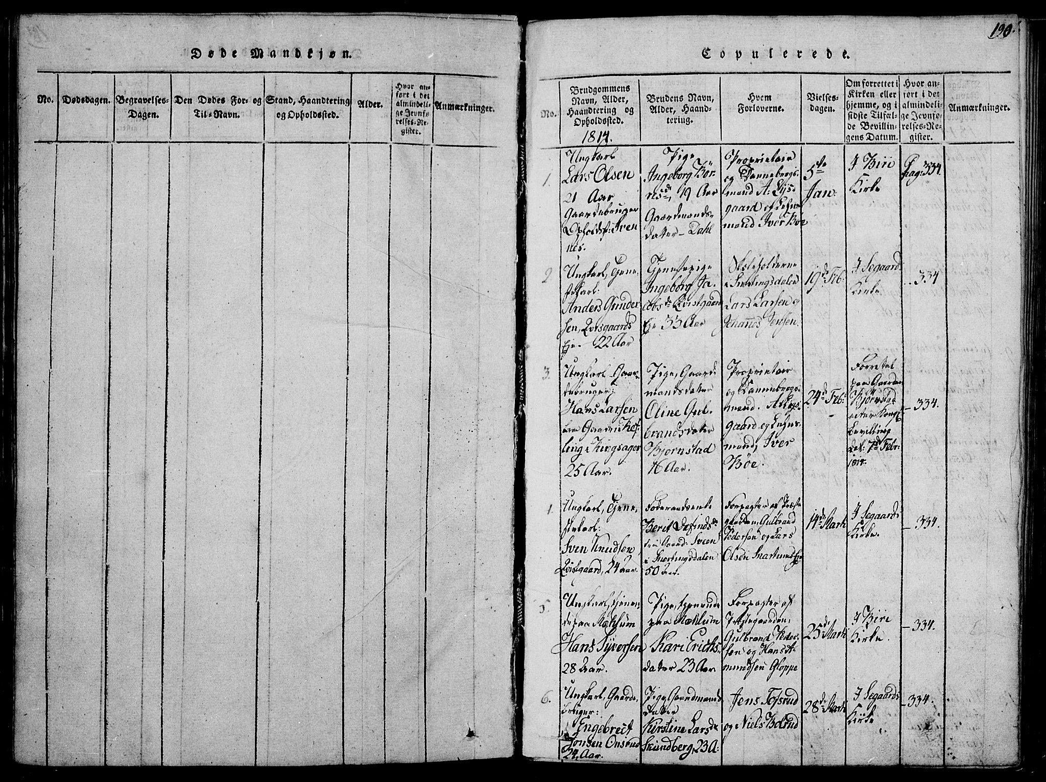 SAH, Biri prestekontor, Ministerialbok nr. 3, 1814-1828, s. 190