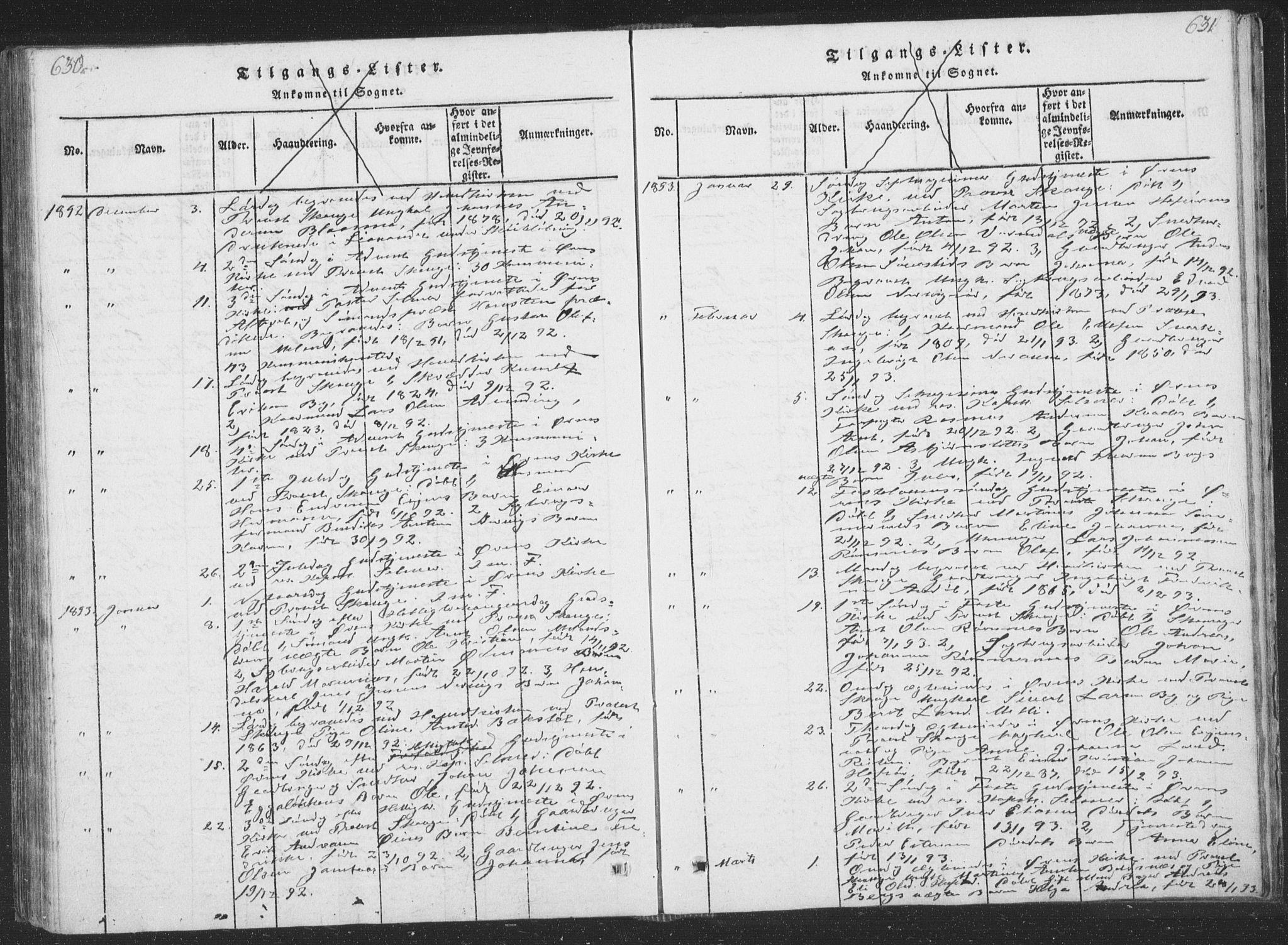 SAT, Ministerialprotokoller, klokkerbøker og fødselsregistre - Sør-Trøndelag, 668/L0816: Klokkerbok nr. 668C05, 1816-1893, s. 630-631