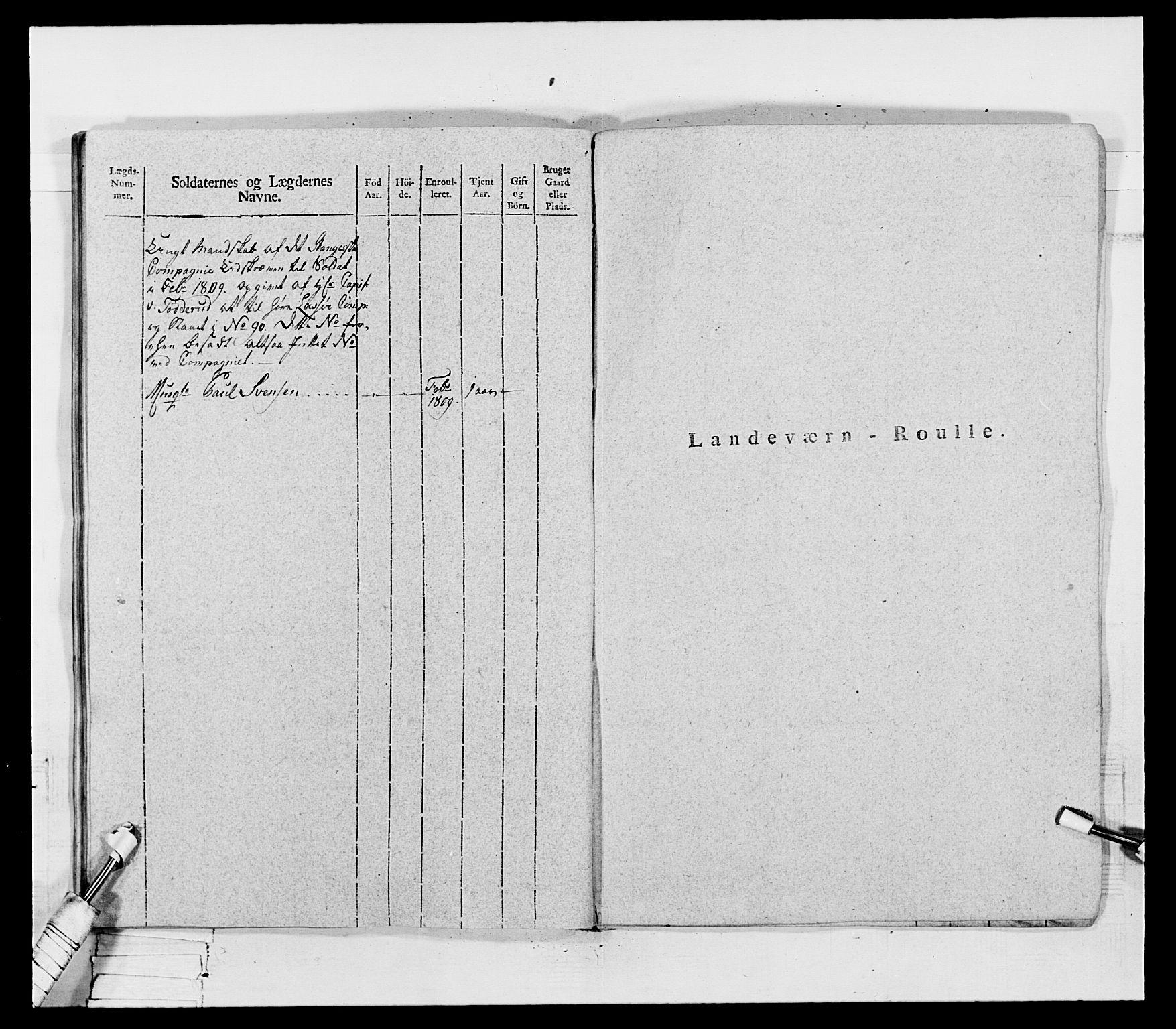 RA, Generalitets- og kommissariatskollegiet, Det kongelige norske kommissariatskollegium, E/Eh/L0069: Opplandske gevorbne infanteriregiment, 1810-1818, s. 297