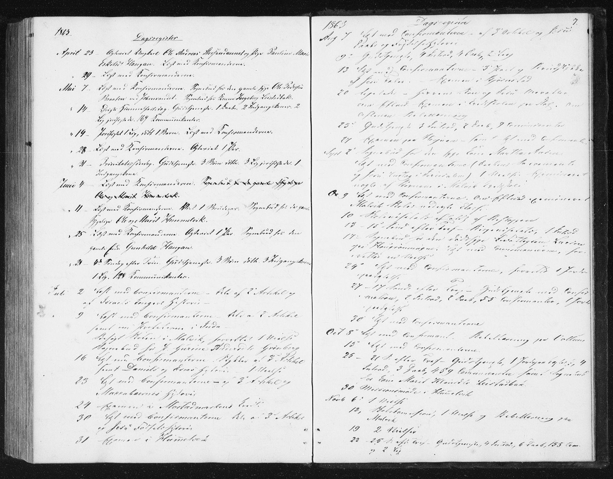 SAT, Ministerialprotokoller, klokkerbøker og fødselsregistre - Sør-Trøndelag, 616/L0408: Ministerialbok nr. 616A05, 1857-1865, s. 7