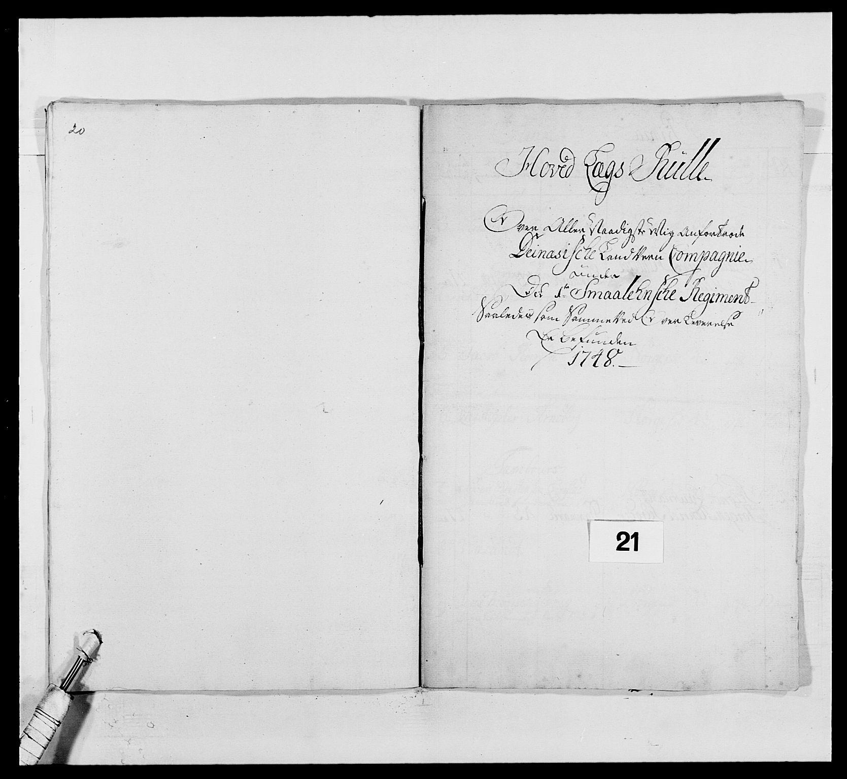 RA, Kommanderende general (KG I) med Det norske krigsdirektorium, E/Ea/L0495: 1. Smålenske regiment, 1732-1763, s. 289