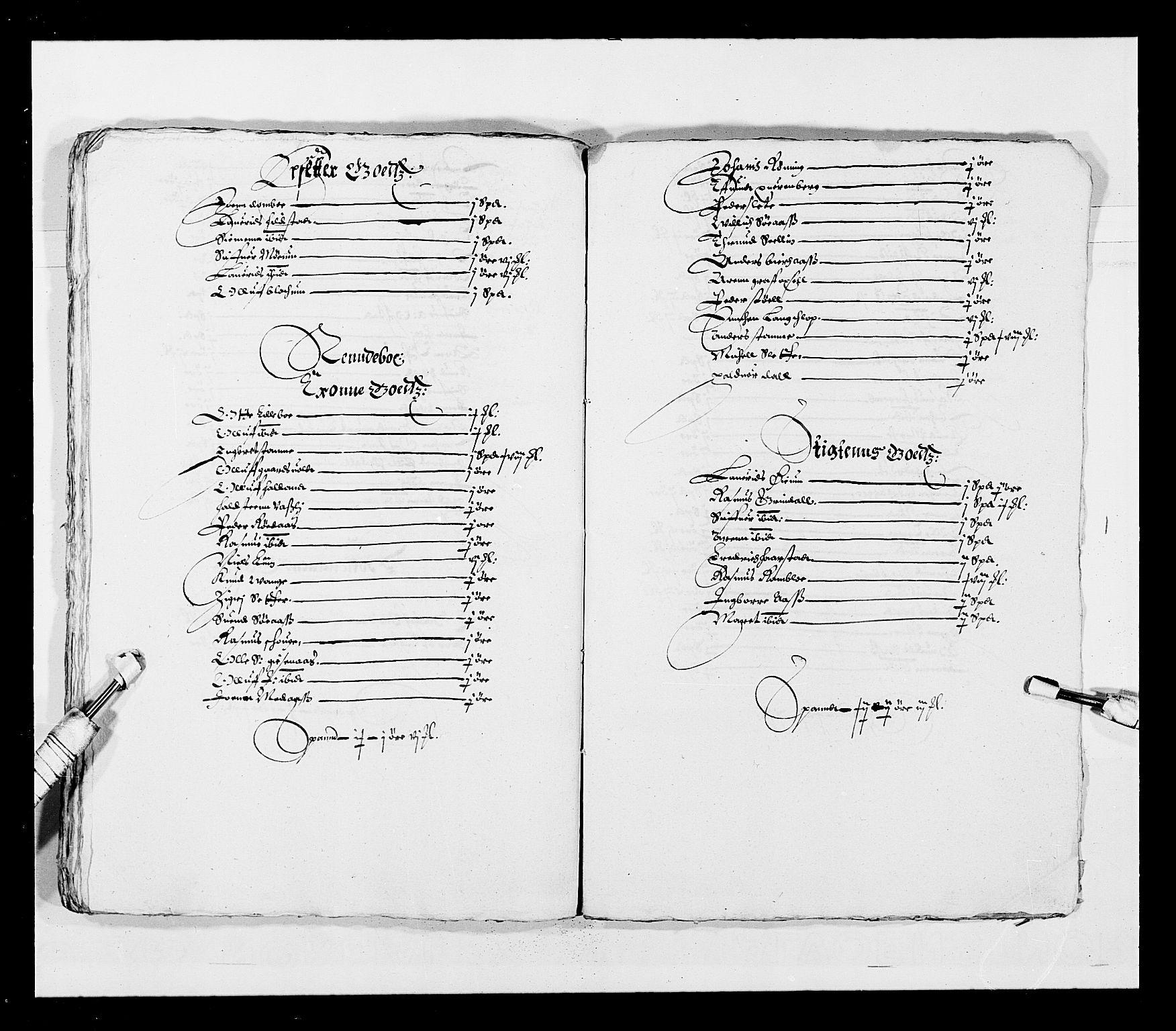RA, Stattholderembetet 1572-1771, Ek/L0028: Jordebøker 1633-1658:, 1645-1646, s. 201