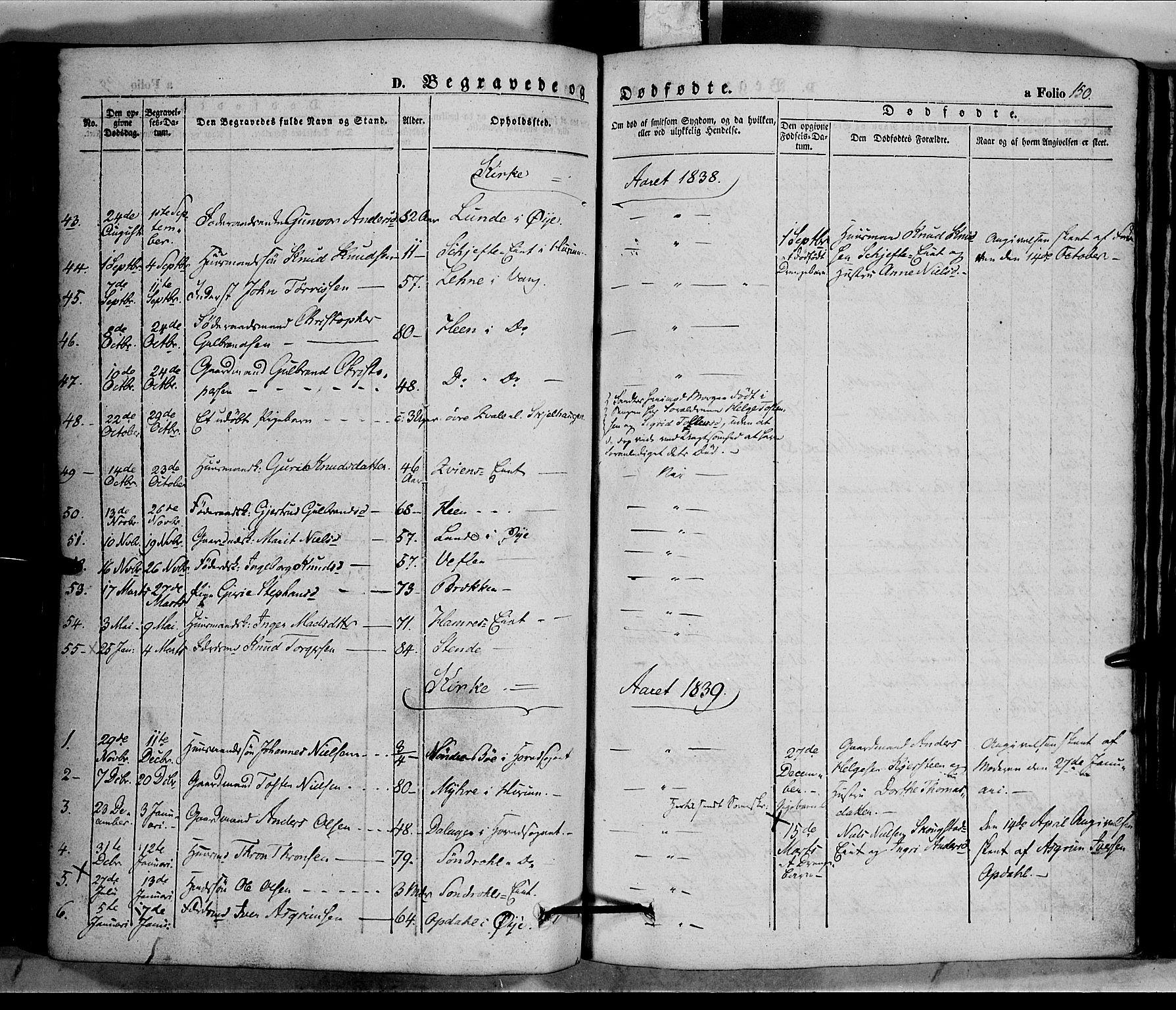 SAH, Vang prestekontor, Valdres, Ministerialbok nr. 5, 1831-1845, s. 150