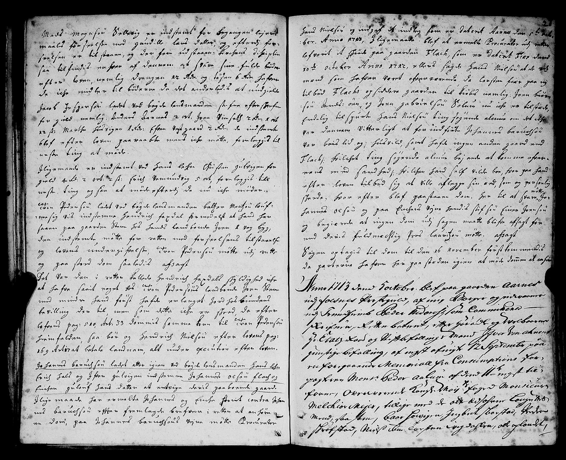SAT, Namdal sorenskriveri, 1/1A/L0004: Tingbok, 1712-1728, s. 20b-21a