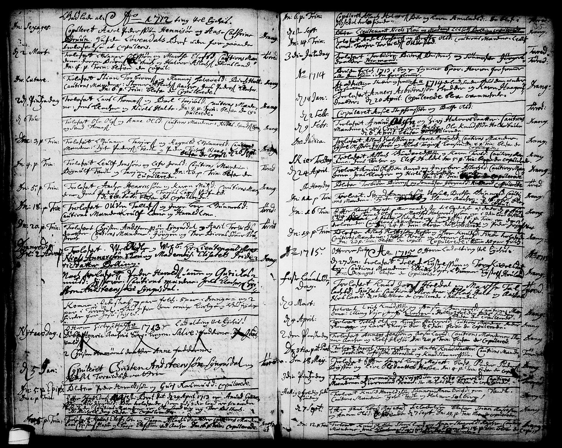 SAKO, Drangedal kirkebøker, F/Fa/L0001: Ministerialbok nr. 1, 1697-1767, s. 35