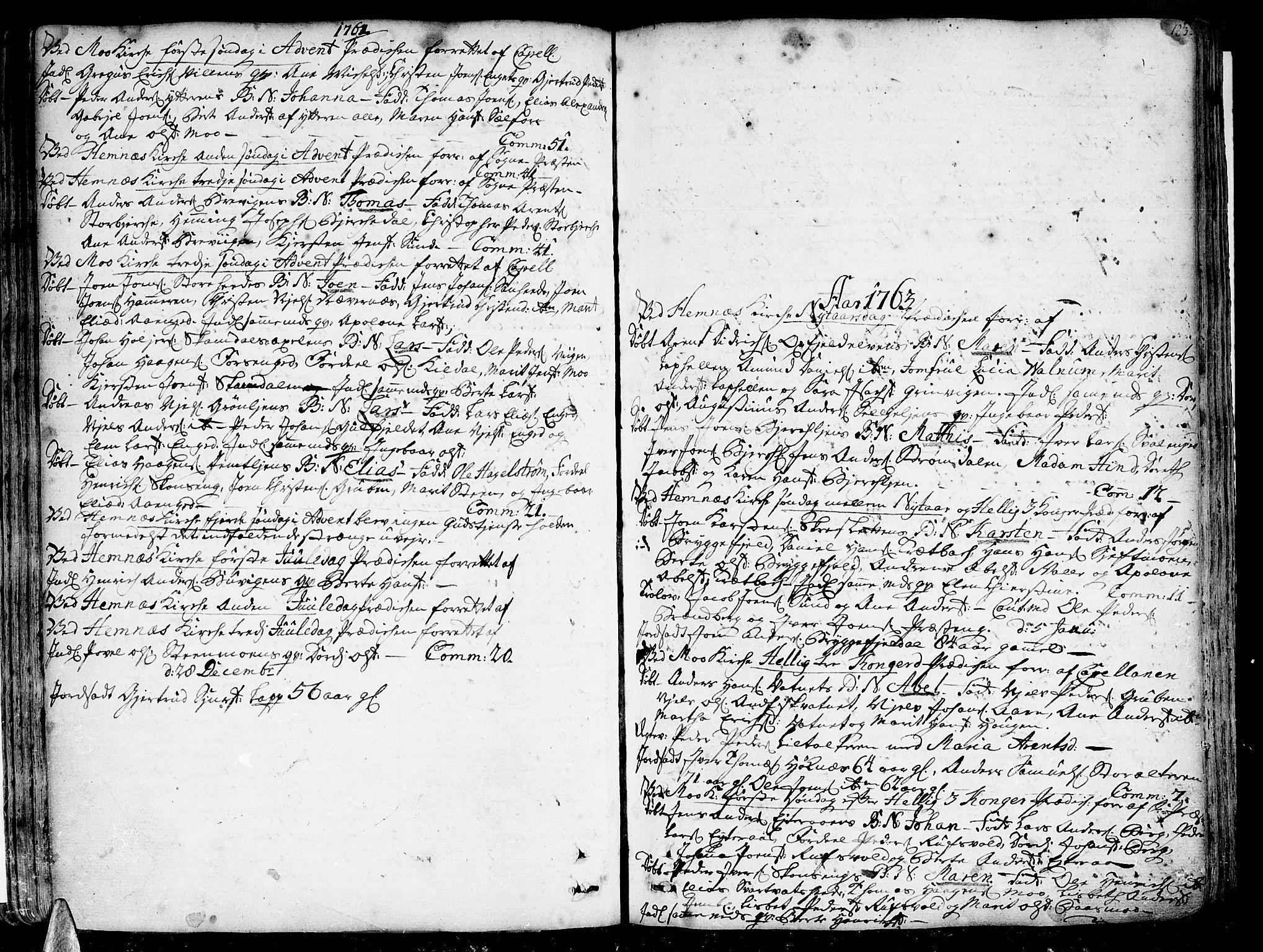 SAT, Ministerialprotokoller, klokkerbøker og fødselsregistre - Nordland, 825/L0348: Ministerialbok nr. 825A04, 1752-1788, s. 123